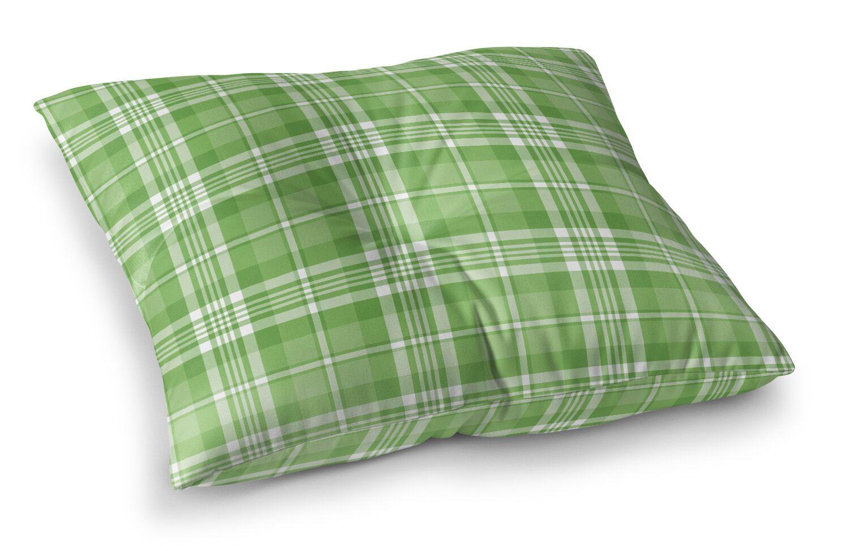 Pascual Plaid Indoor/Outdoor Floor Pillow Size: 26