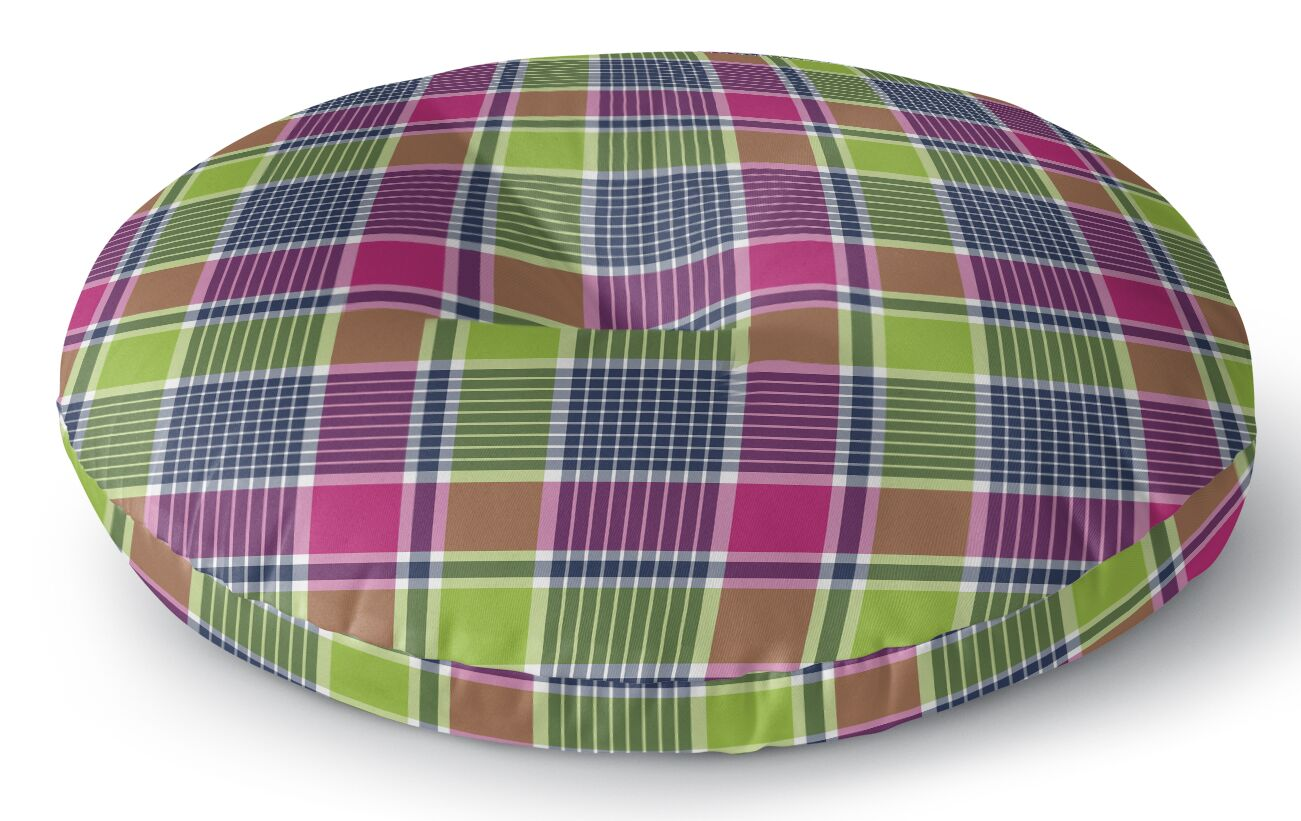 Zoelle Plaid Indoor/Outdoor Floor Pillow Size: 26