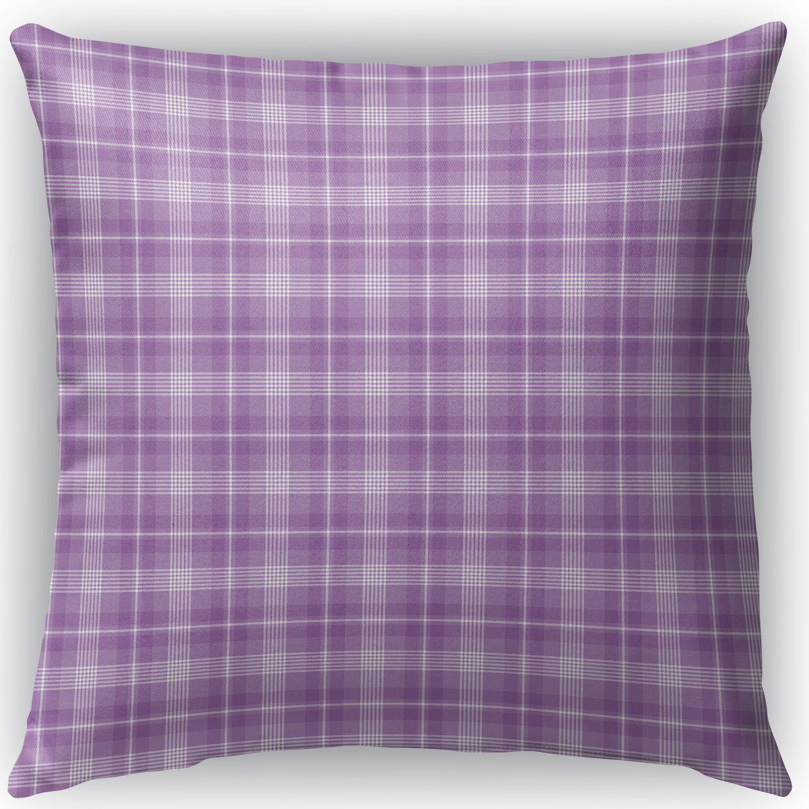Malvina Plaid Indoor/Outdoor Throw Pillow Size: 26