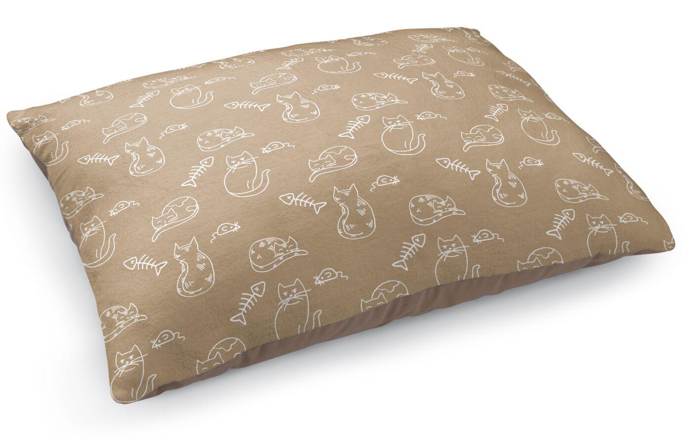Kimbro Doodle Cat Pillow
