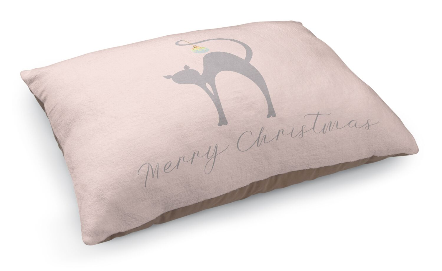 Meowy Christmas Cat Pet Bed Pillow Color: Grey/ Blue/ Pink
