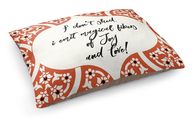 Fibers of Joy Pet Bed Pillow Color: Orange/ Ivory