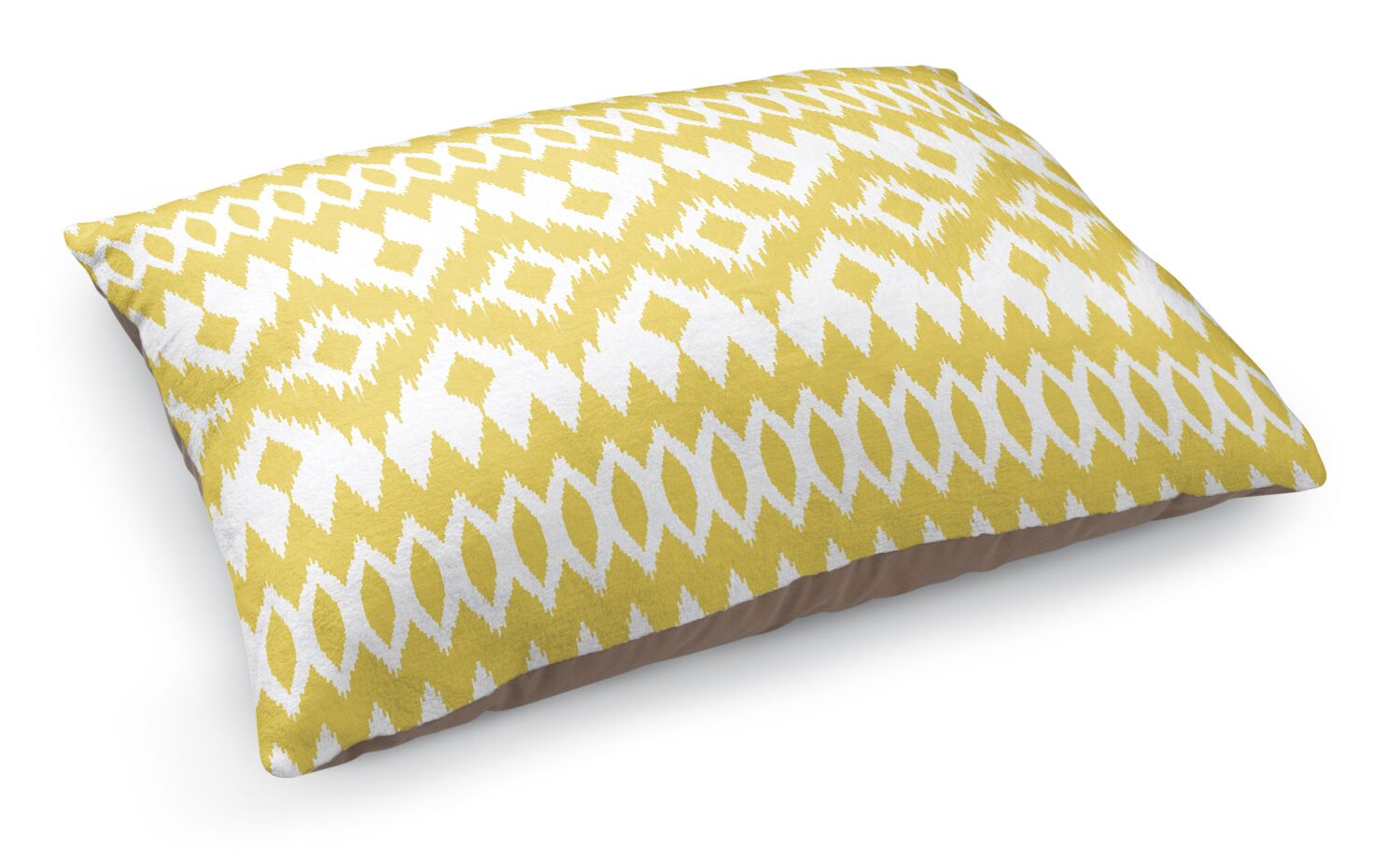 Wayz Pet Bed Pillow Color: Yellow/ White