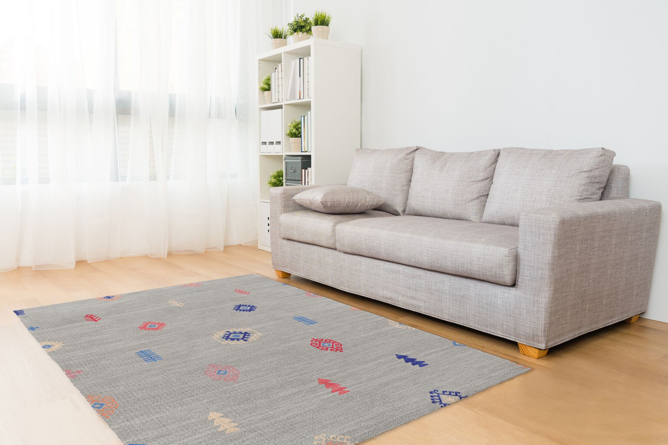 Mahaut Gray Area Rug Rug Size: Rectangle 3' x 5'