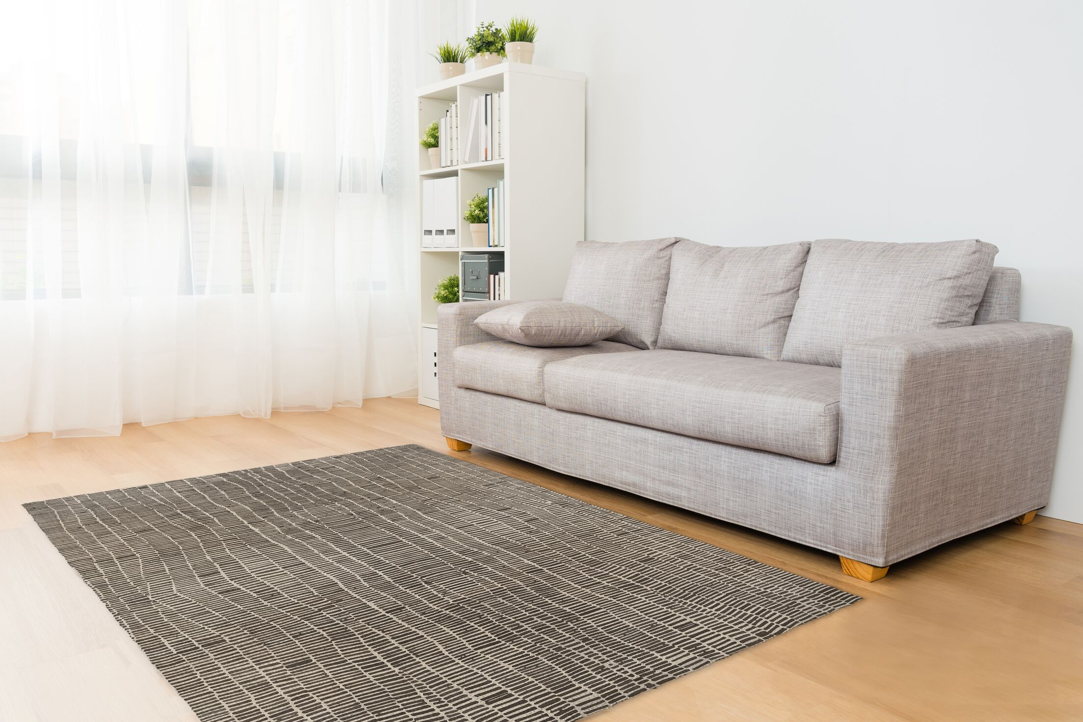 Andersen Black/Beige Area Rug Rug Size: Rectangle 3' x 5'