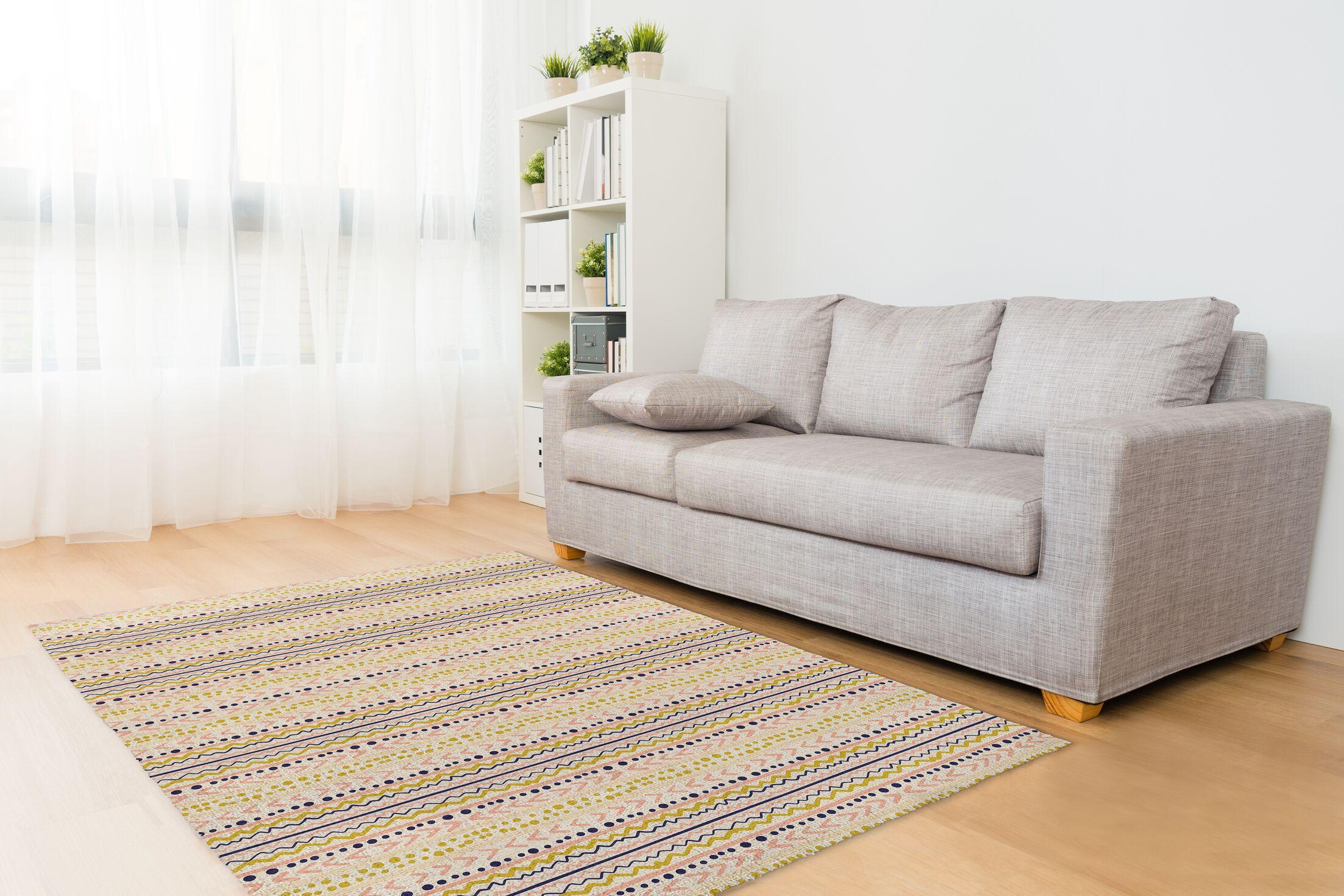 Treyton Pink/Blue Area Rug Rug Size: Rectangle 3' x 5'