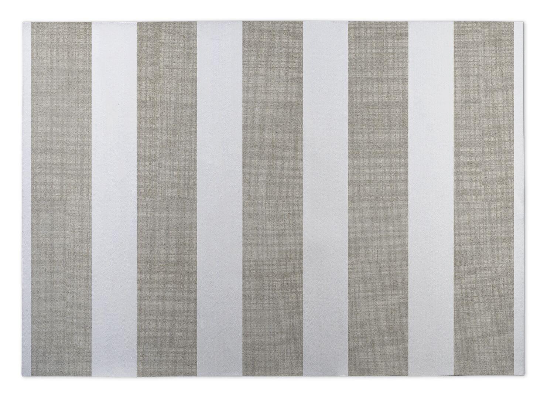 Oz Doormat Color: Tan/ White, Mat Size: 4' x 5'