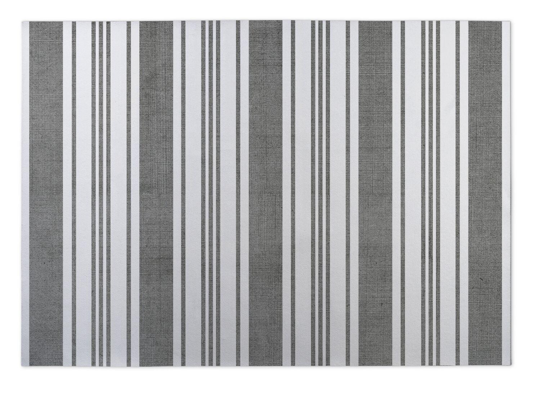 Sagamore Doormat Color: Dark Grey/ White, Mat Size: 5' x 7'