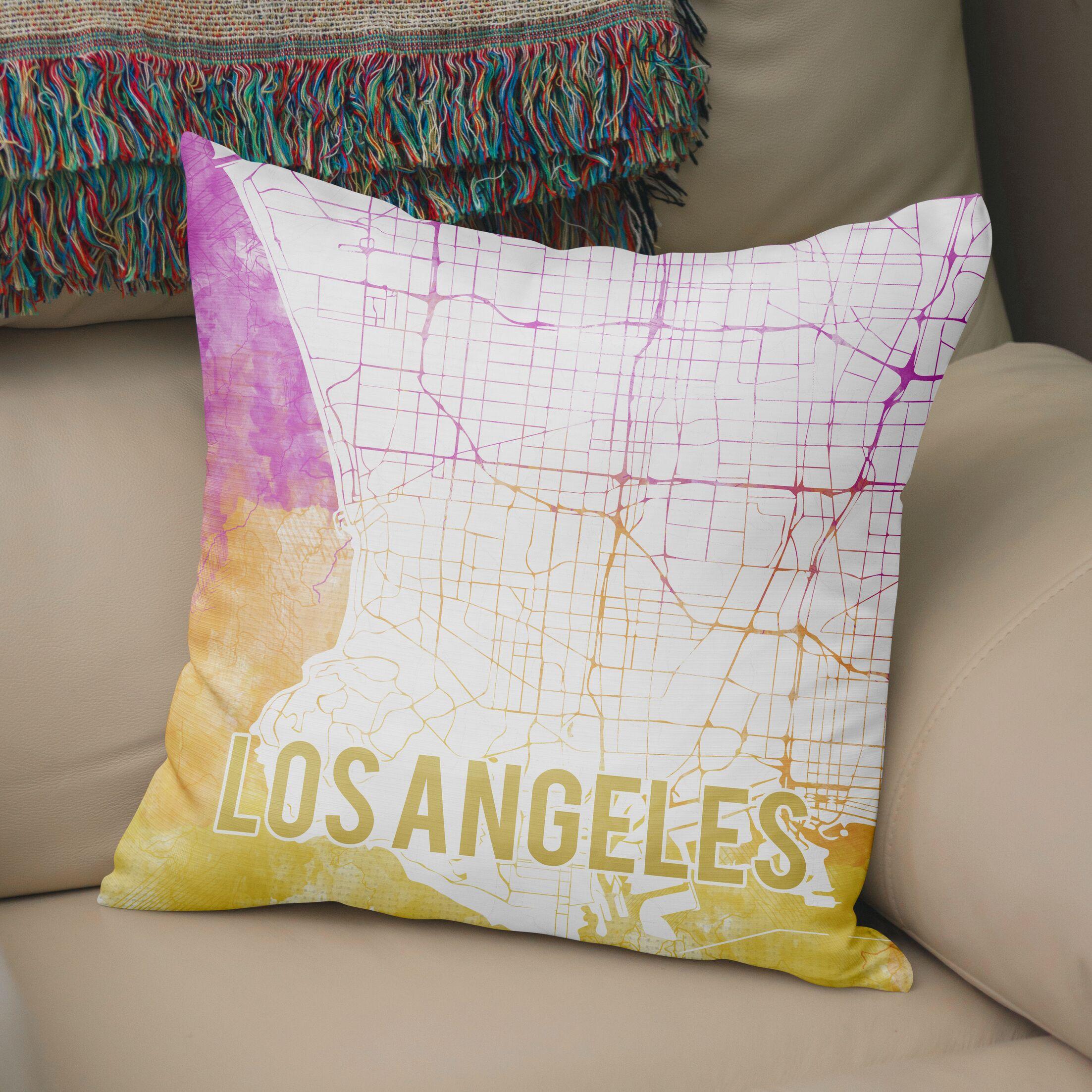La Sunset Front Accent Pillow Size: 16