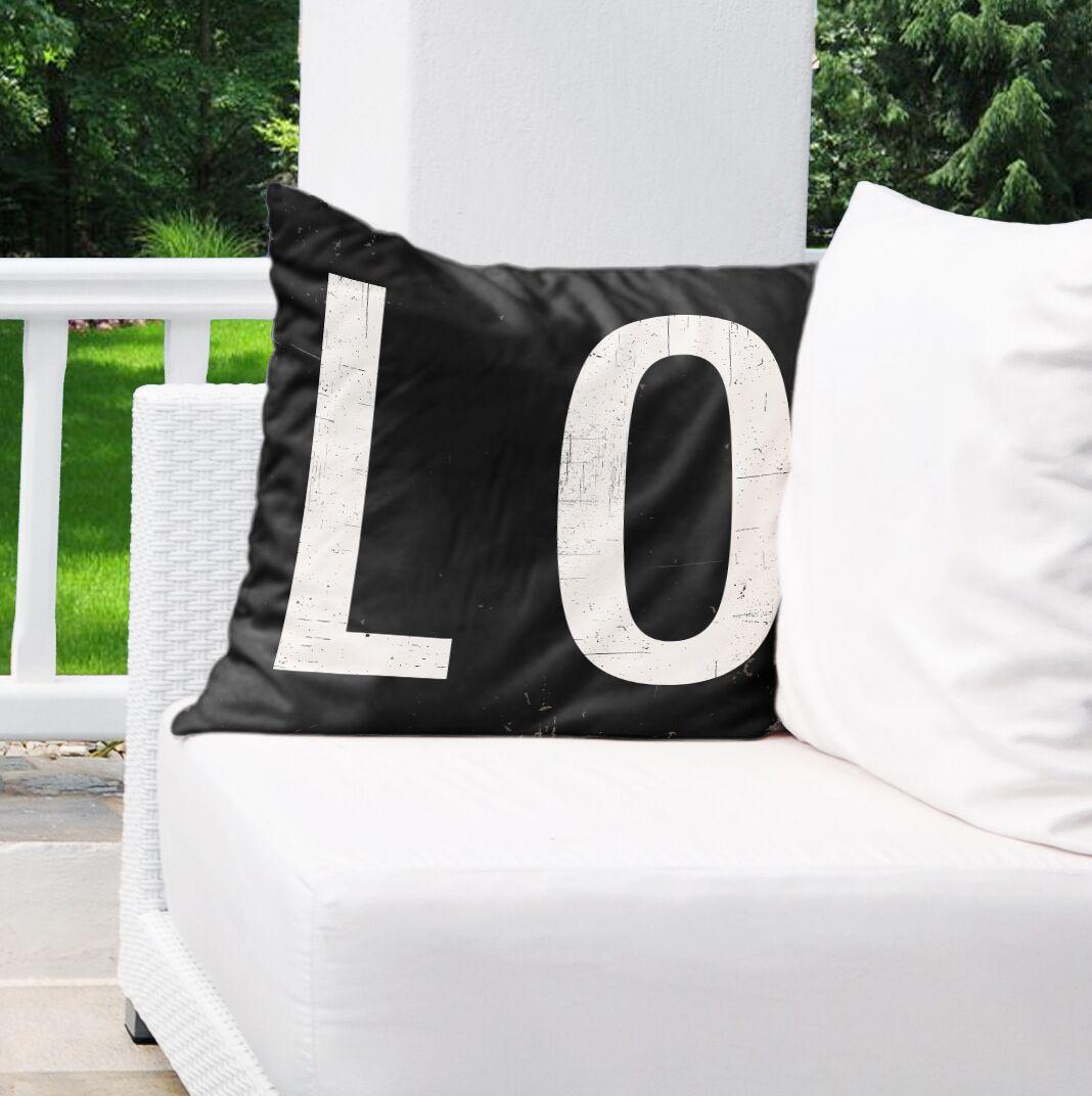 LO Burlap Indoor/Outdoor Pillow Size: 26
