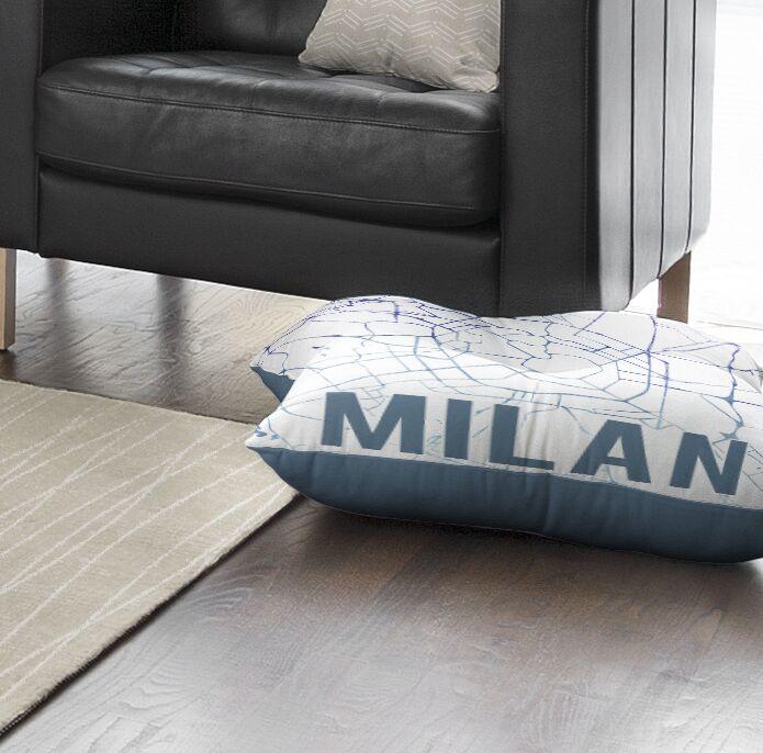 Milan Sunset Front Floor Pillow Size: 26