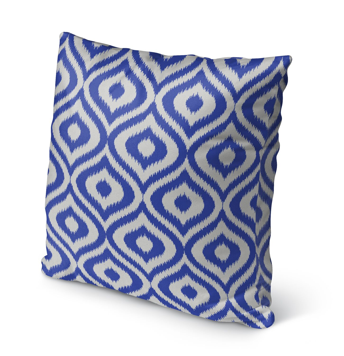 Ikat Ogee Burlap Indoor/Outdoor Throw Pillow Size: 26