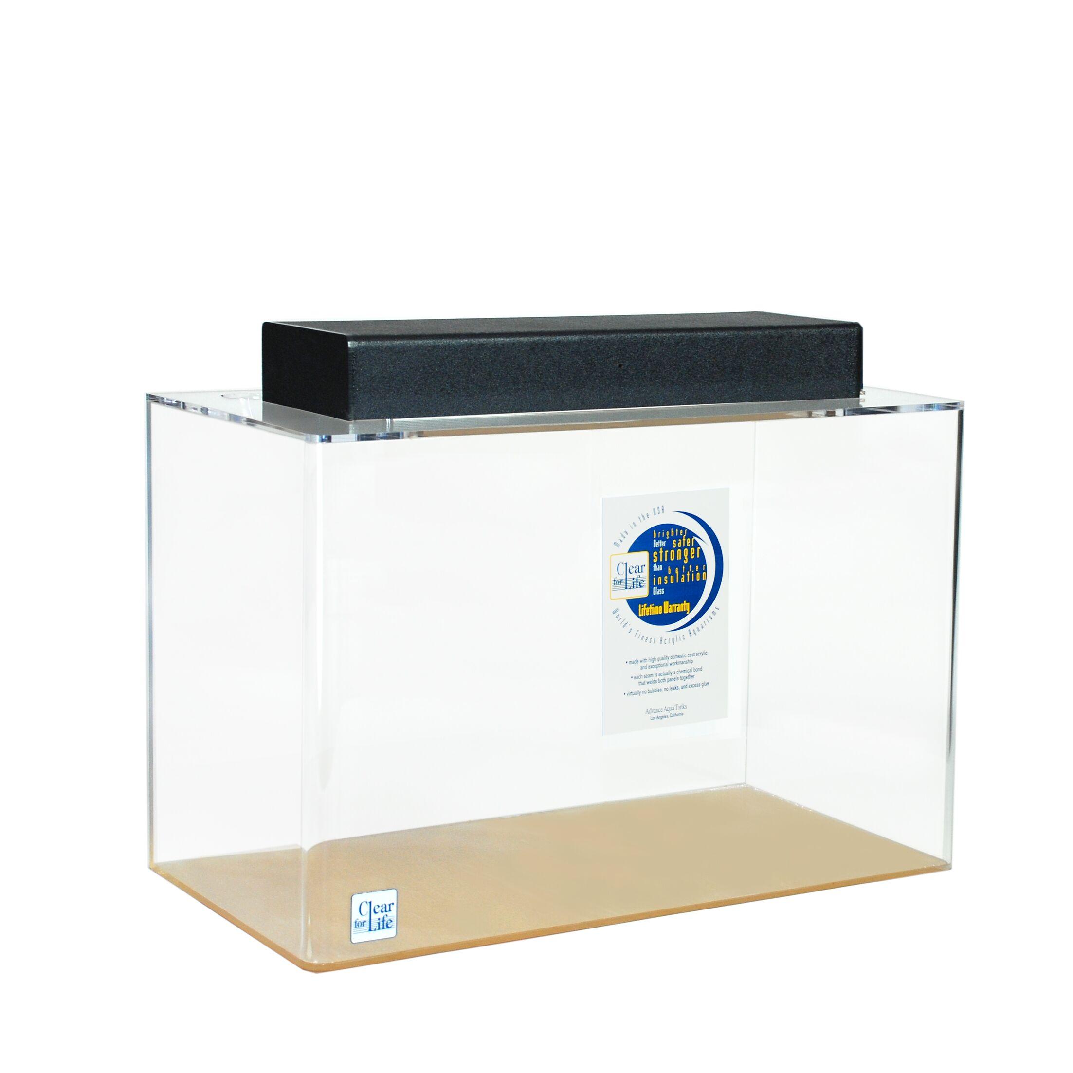 Mulligan Rectangle Acrylic Aquarium Tank Color: Clear, Size: 30