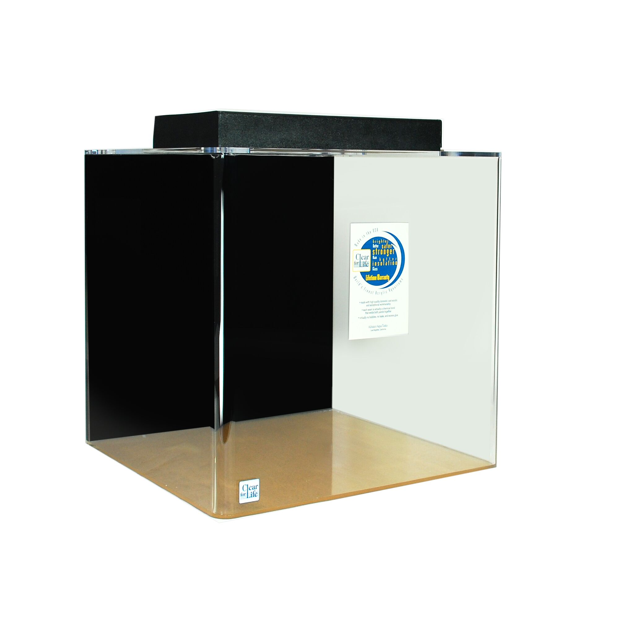 Mullen Cube Acrylic Aquarium Tank Color: Black, Size: 24
