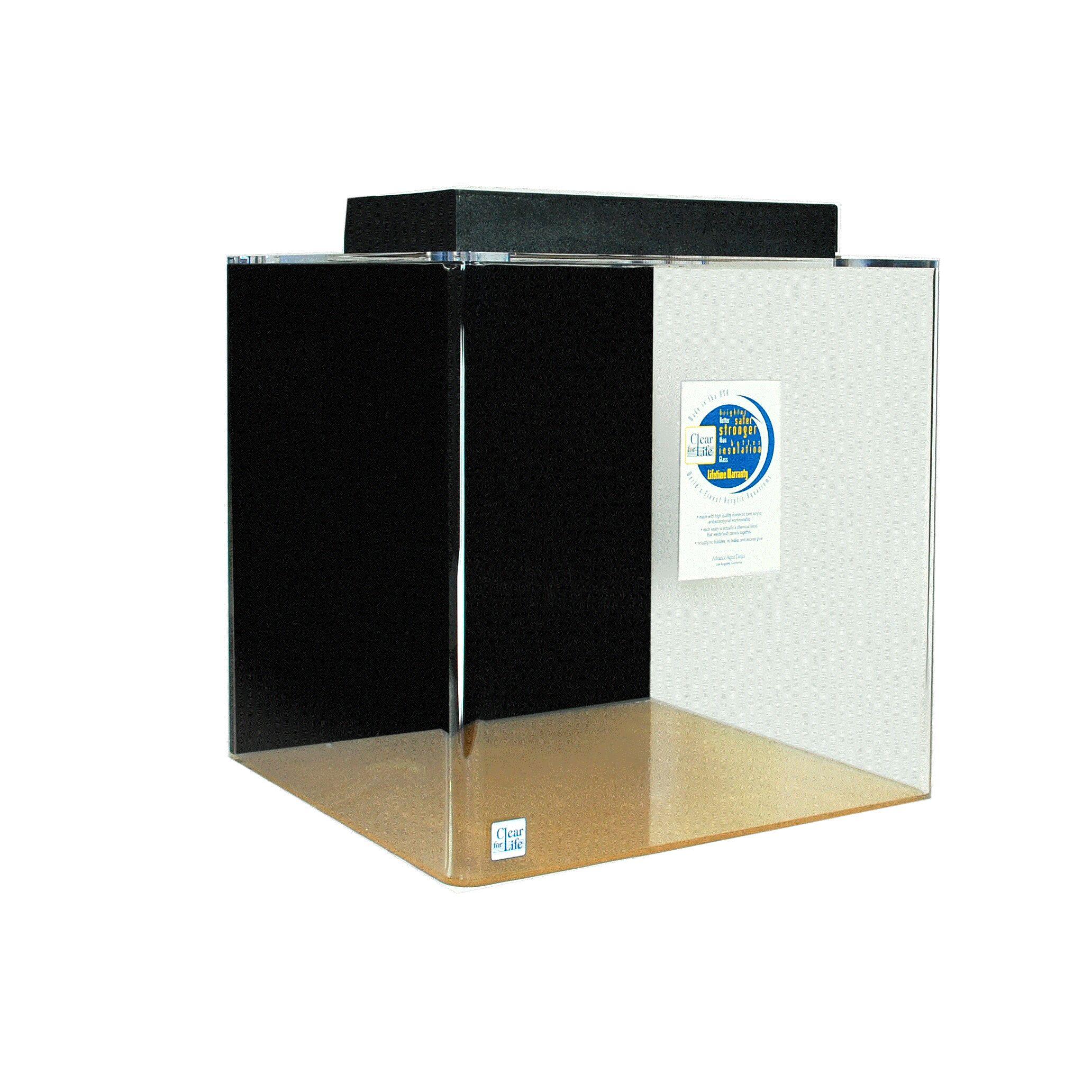 Cube Aquarium Tank Color: Black, Size: 18