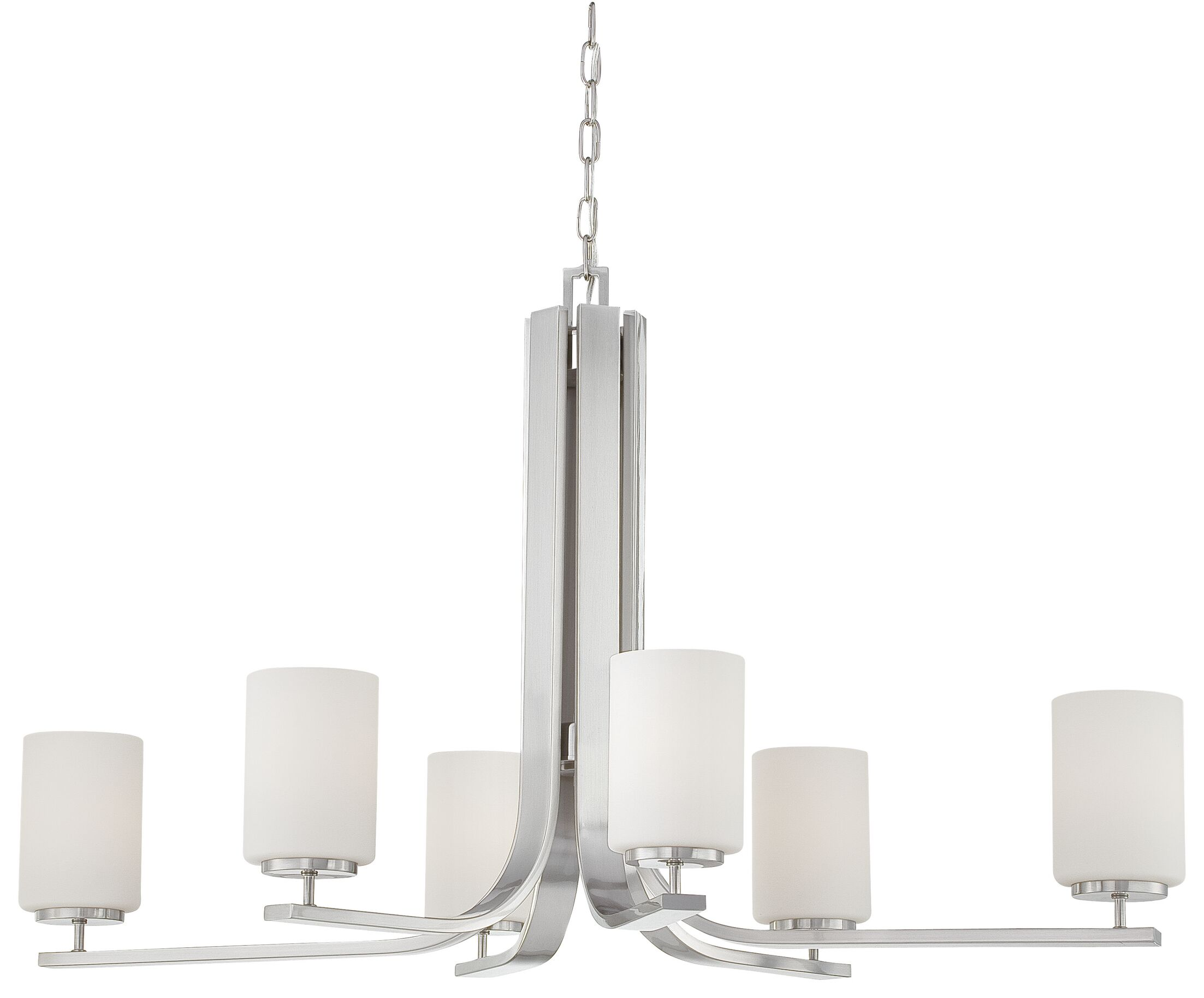 Wunderlich 6-Light Shaded Chandelier