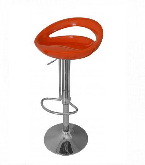 Adjustable Height Swivel Bar Stool Finish: Orange