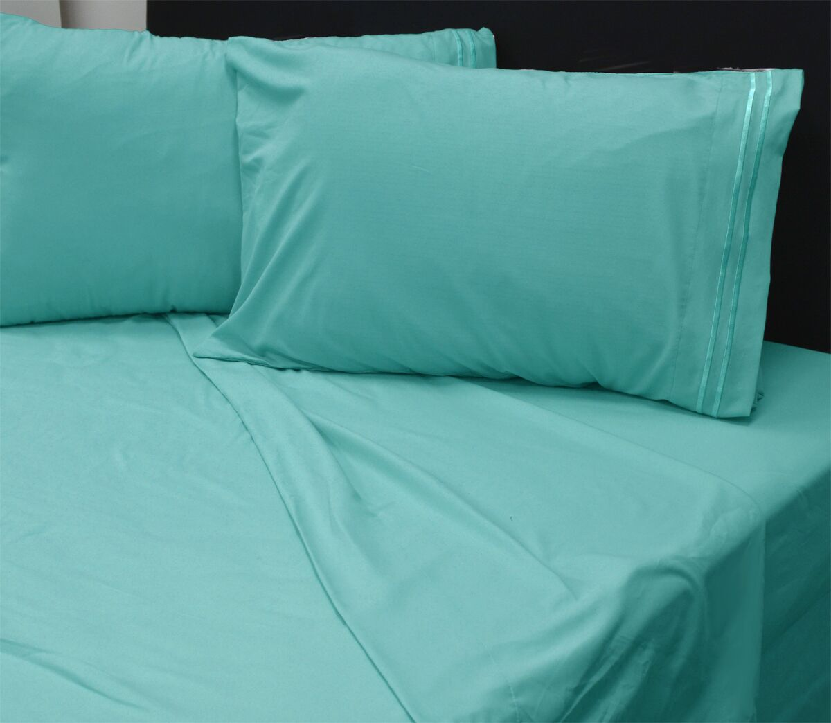 Summers 1800 Sheets Size: Double, Color: Turquoise