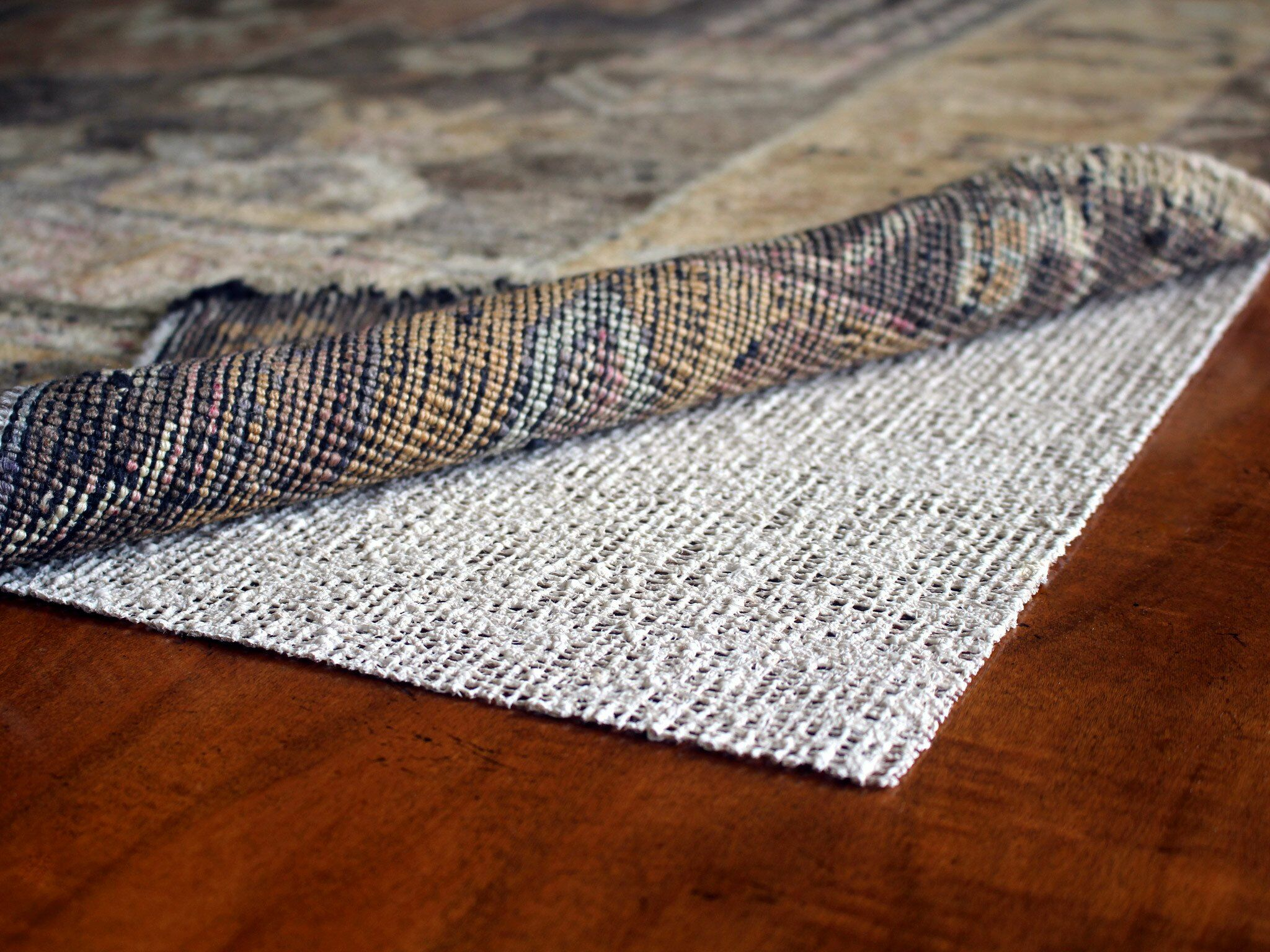 Nature's Grip Non-Skid Jute and Natural Rubber Eco Friendly Rug Pad Rug Pad Size: Rectangle 4' x 6'