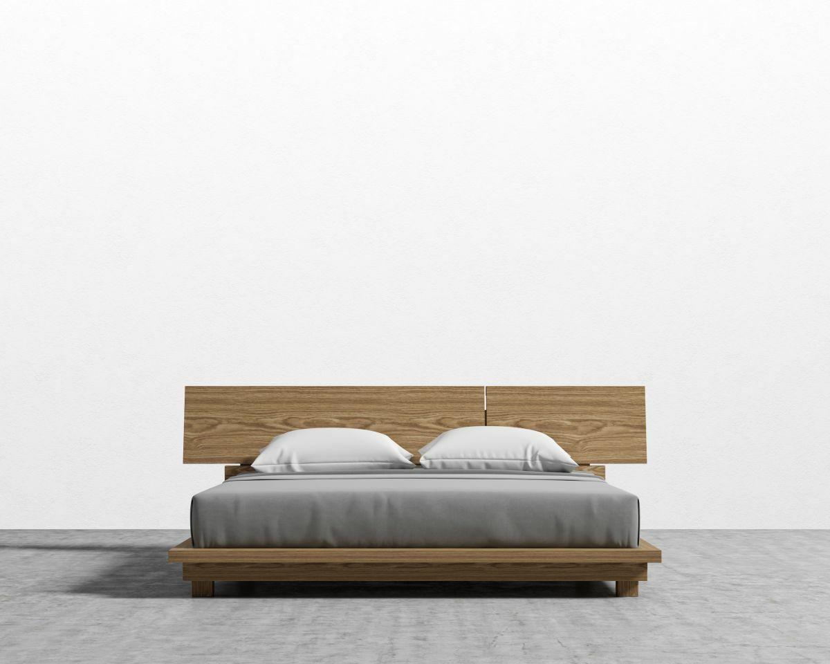 Hunter Platform Bed Color: Ash Veneer, Size: Queen