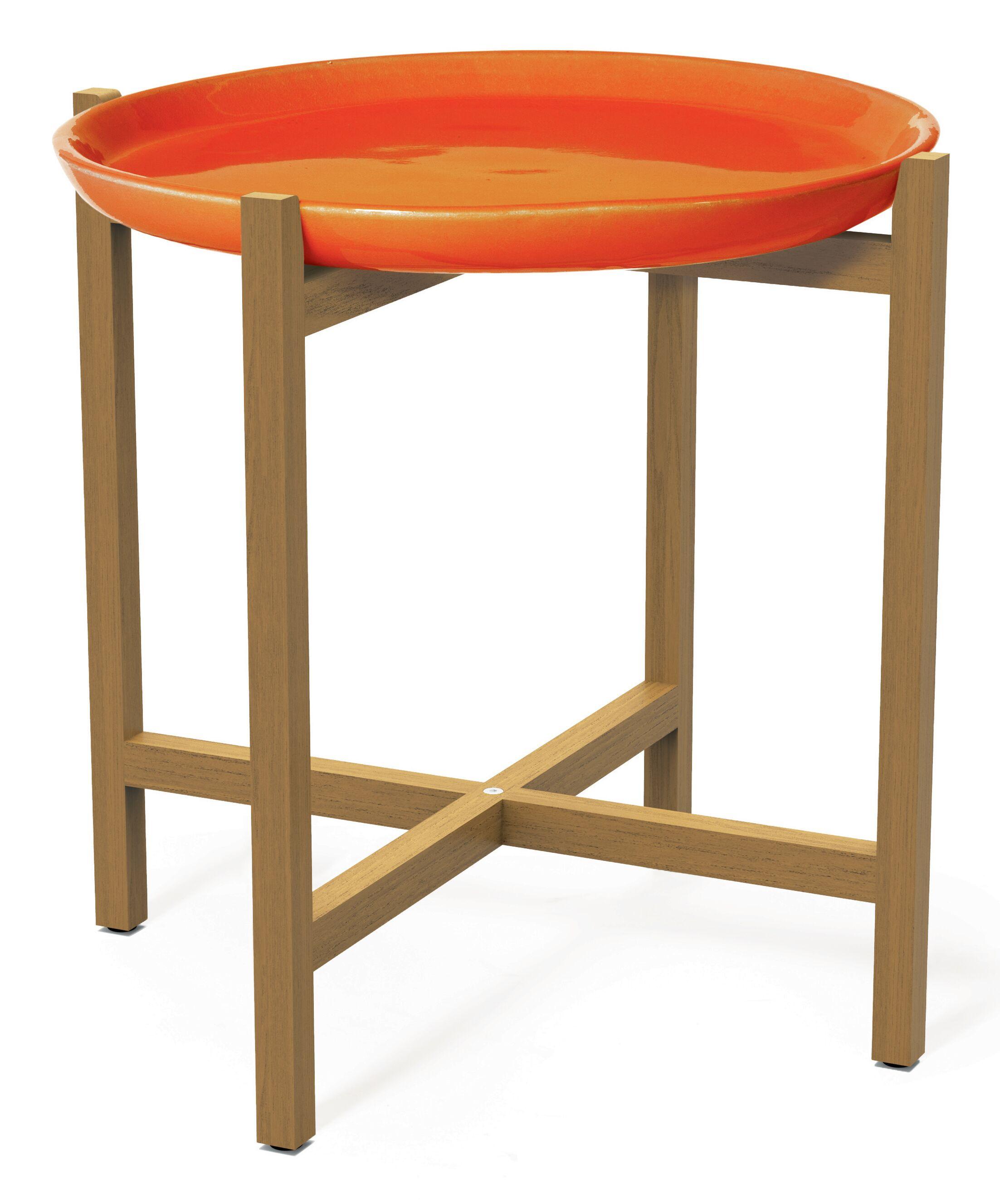 Ibis Teak Side Table Top Color: Orange