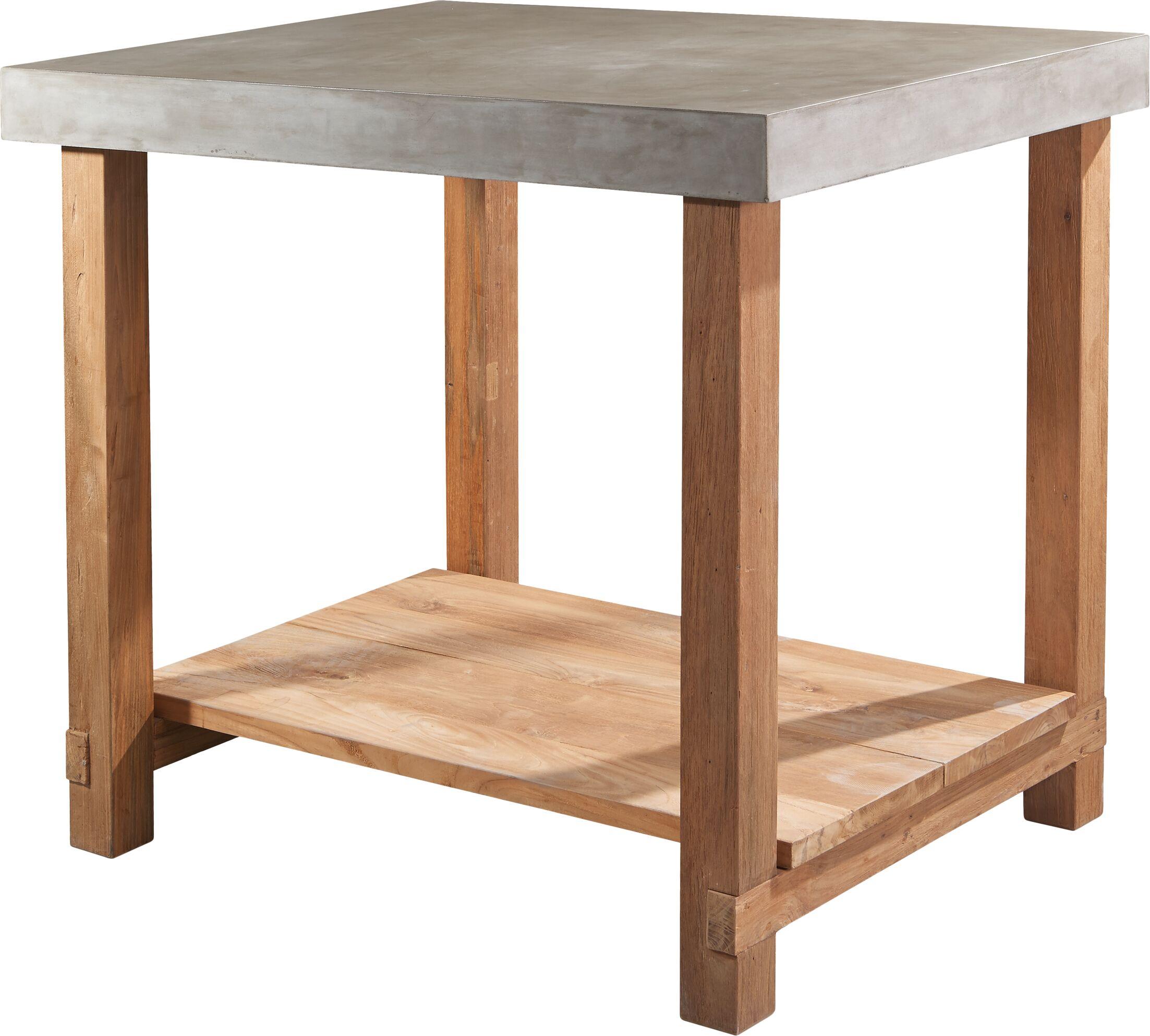 Perpetual Mykonos Gathering Teak Side Table Top Finish: Slate Gray