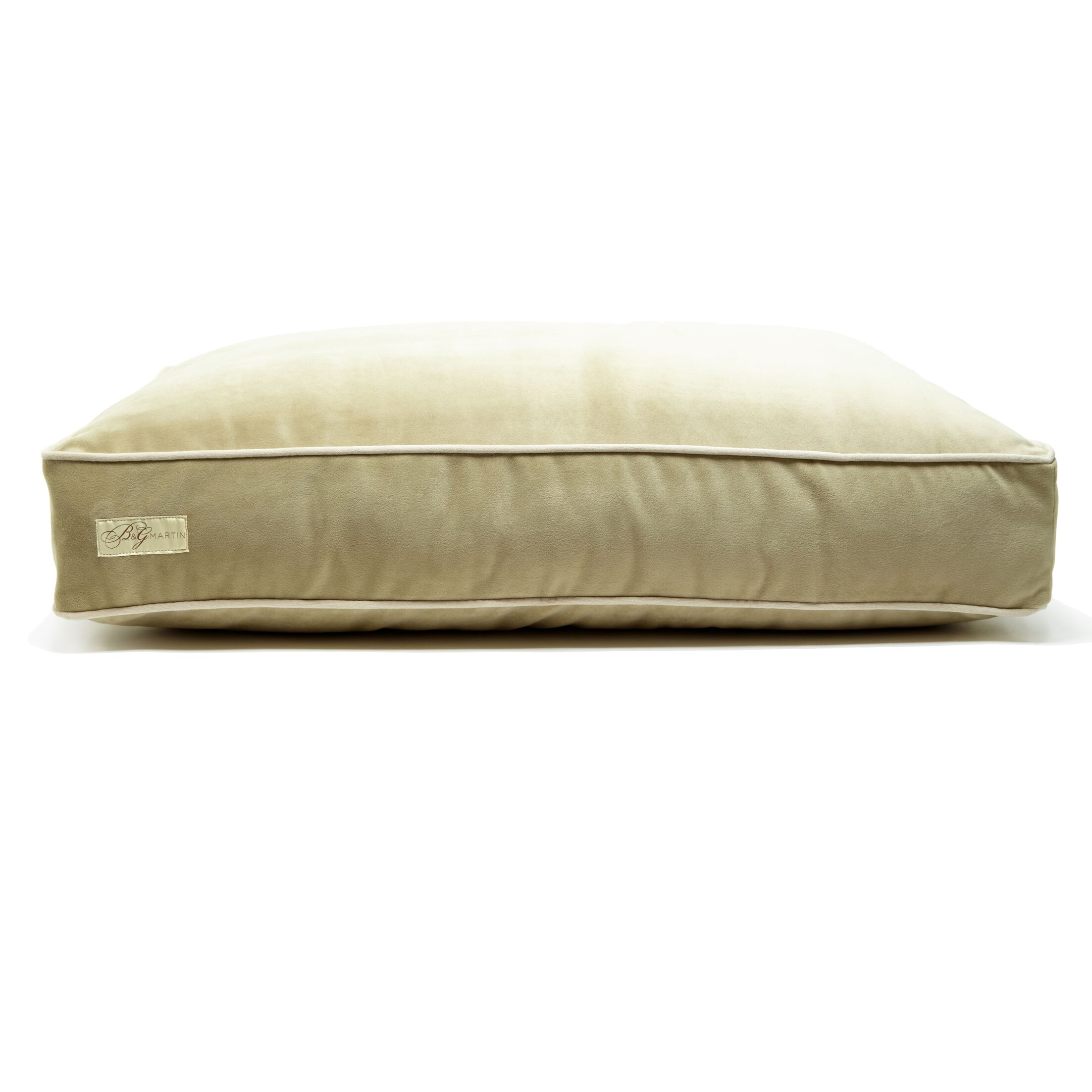 Microsuede Foam and Faux Down Cushion Dog Bed Size: Small (18