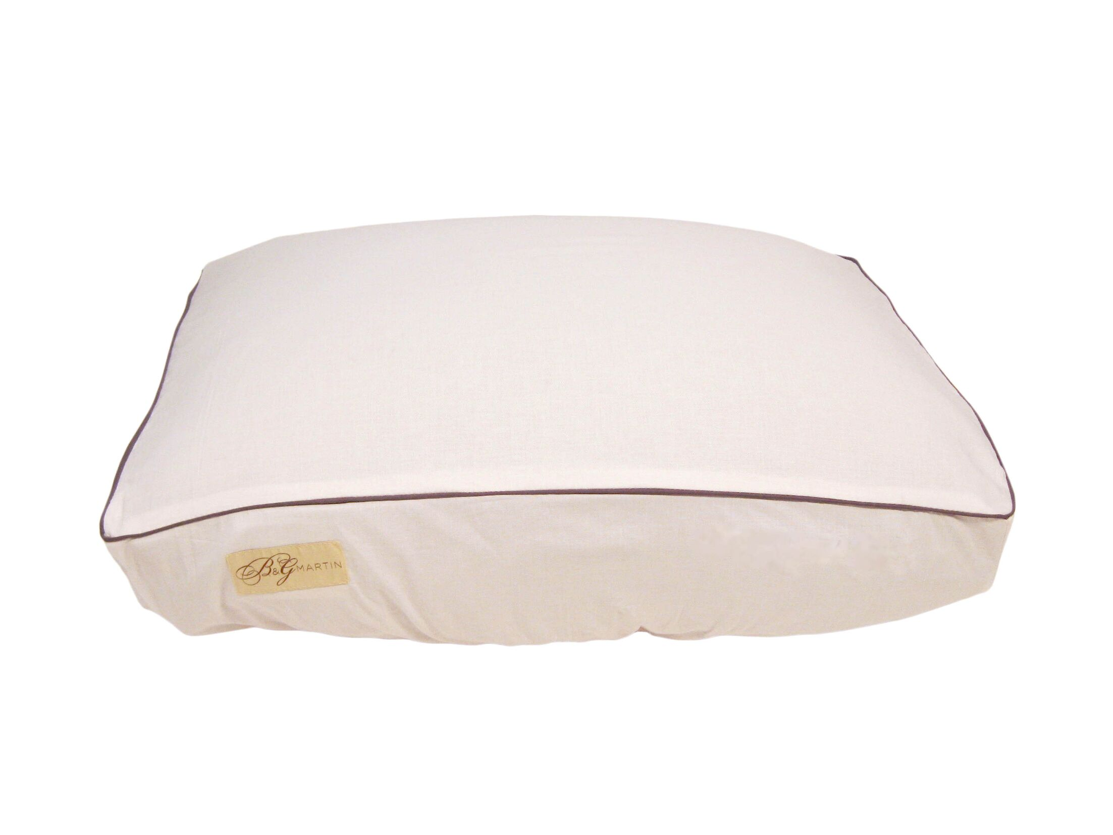 Standard Piping Fitted Linen Bed Cover Size: Extra Large (7