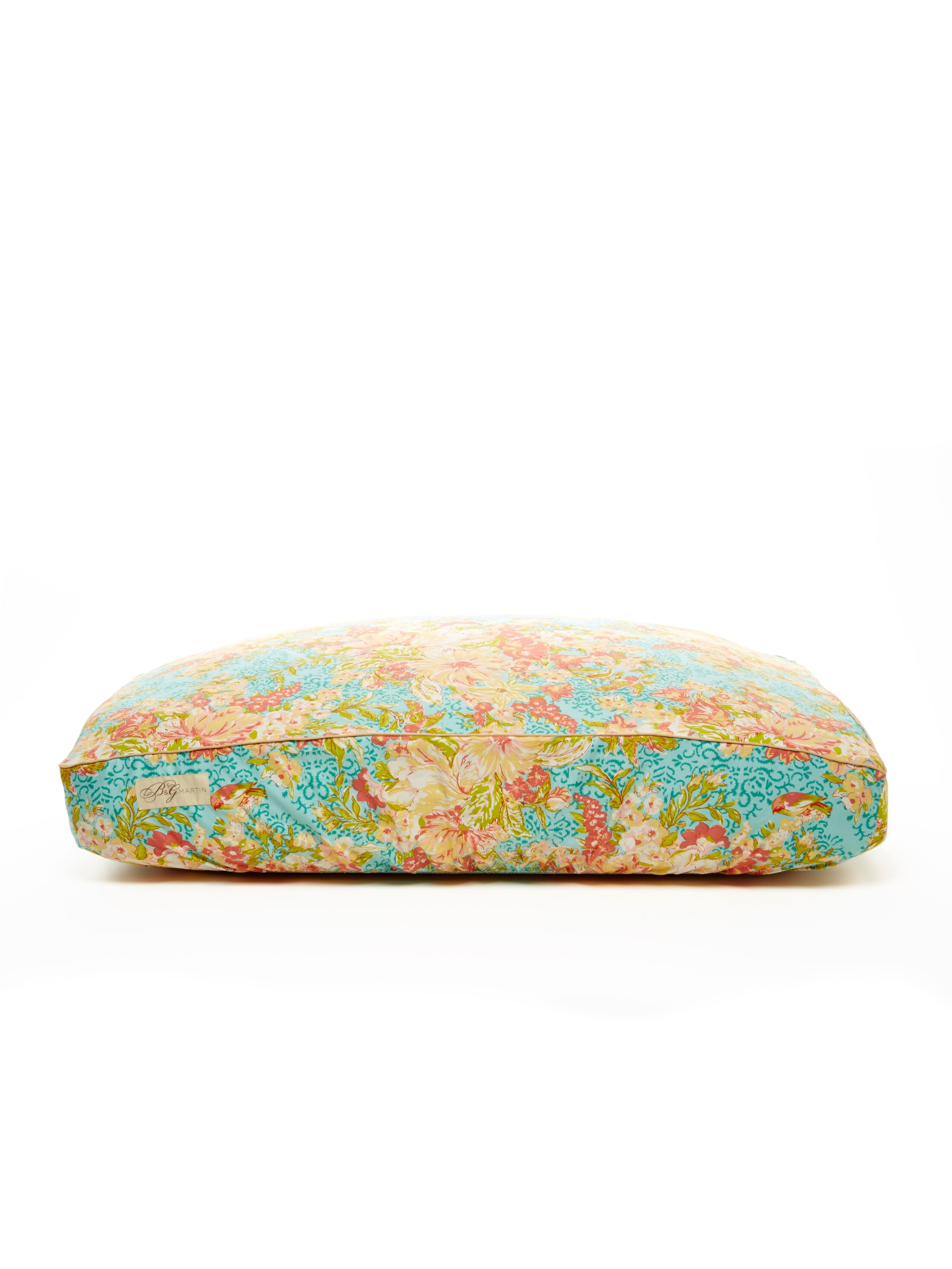 Deluxe Floral Dog Bed Cover Size: Small (18