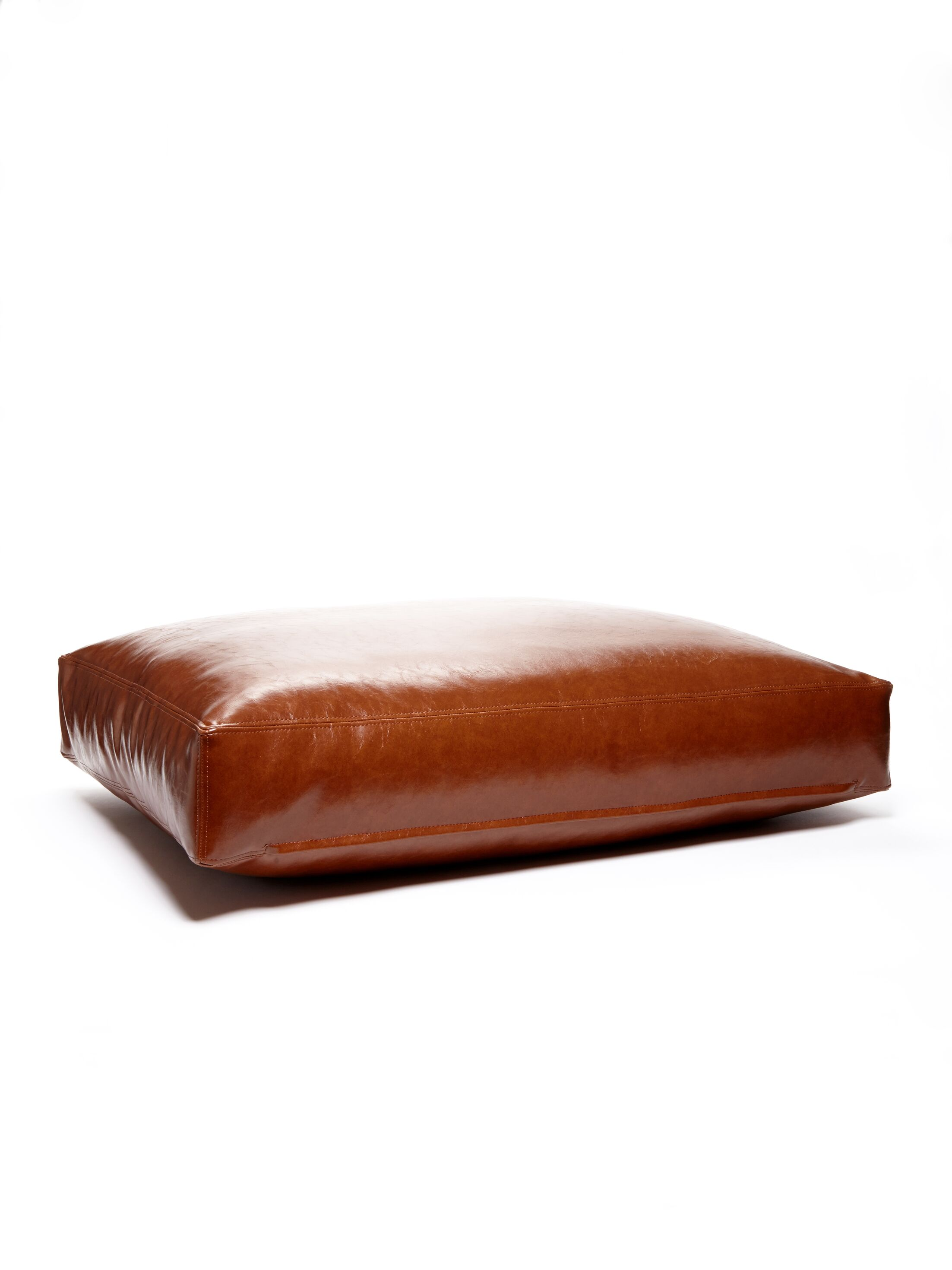 Faux Leather and Faux Down Cushion Dog Bed Size: Large (26