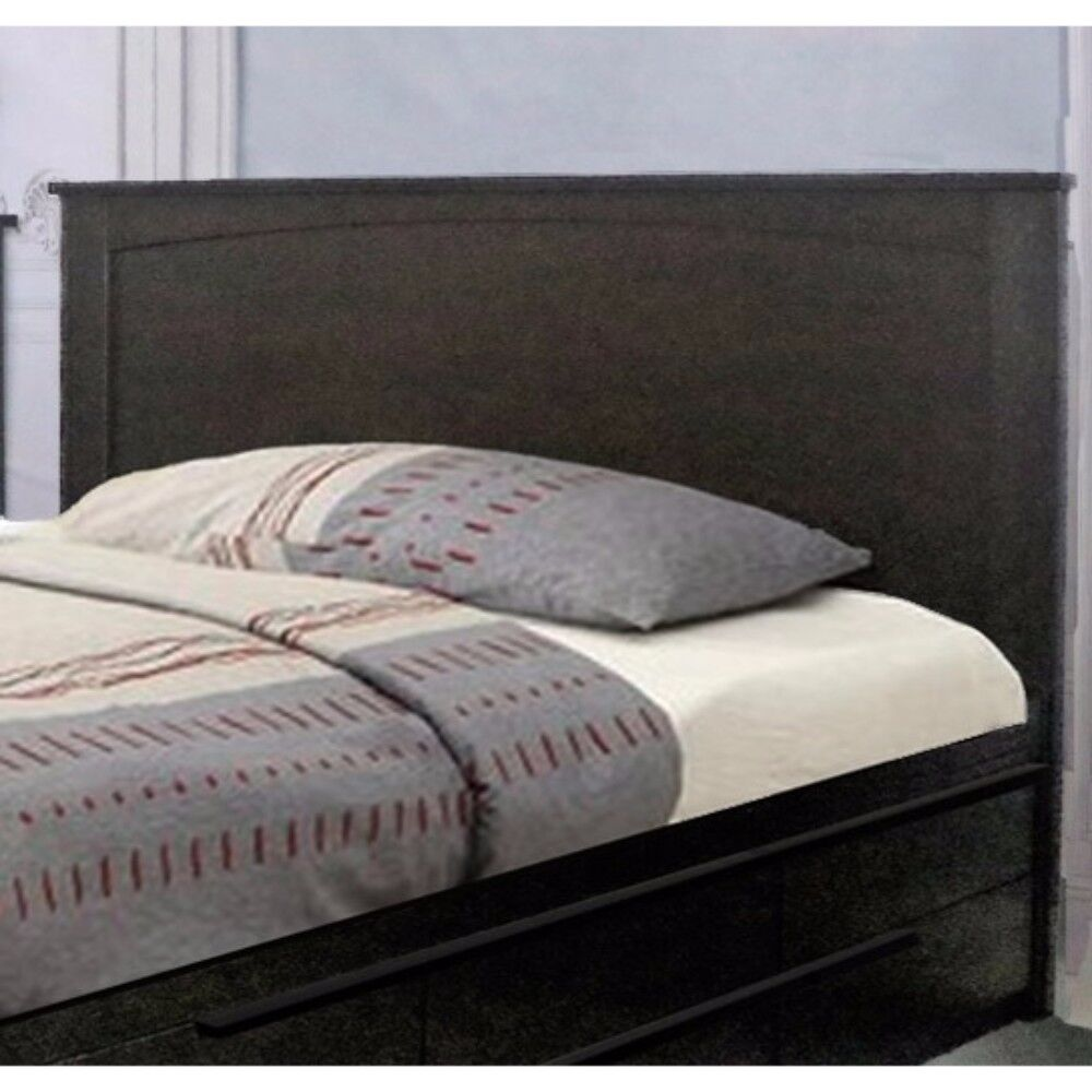 Dockins Luxurious Panel Headboard Color: Dark Brown, Size: Twin