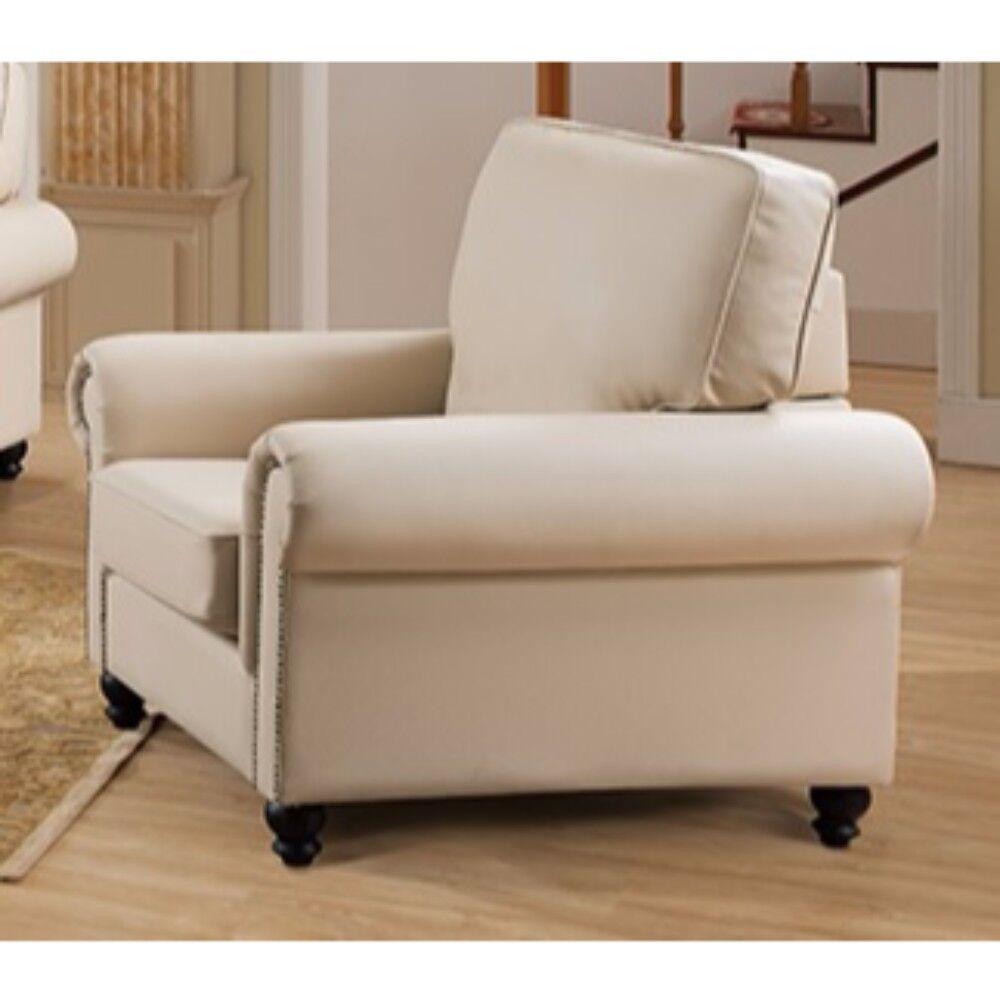 Arrowood PU Leather Armchair Upholstery: Cream