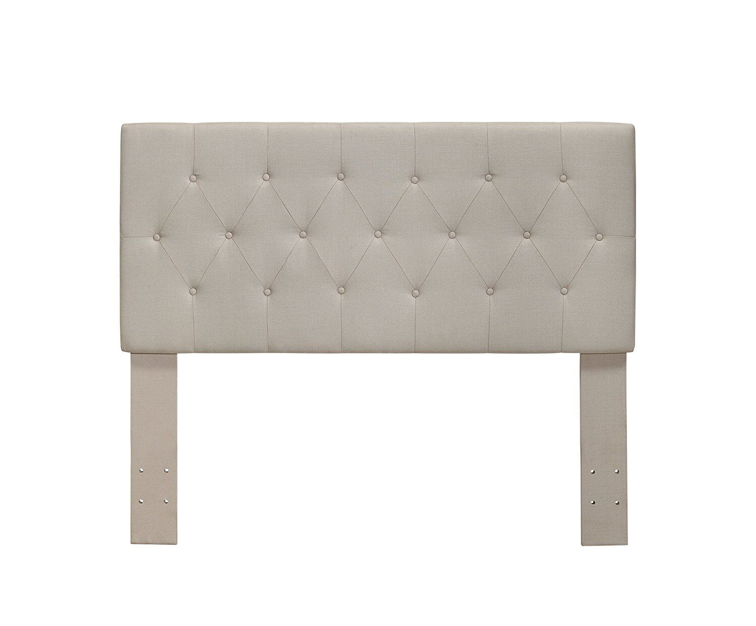 Cantor Upholstered Panel Headboard Color: Ivory, Size: Twin
