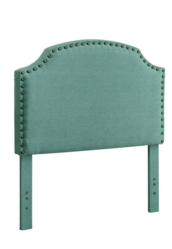 Ruggiero Upholstered Panel Headboard Color: Blue, Size: Queen