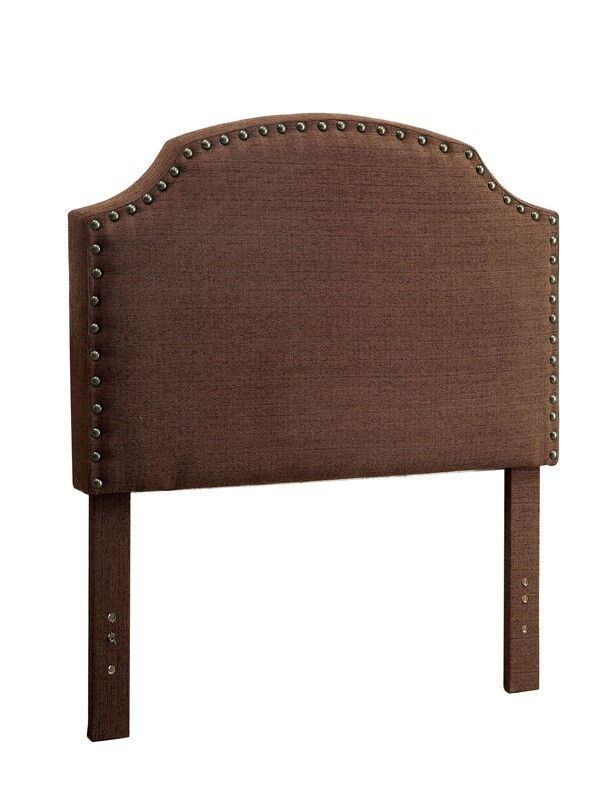 Ruggiero Upholstered Panel Headboard Color: Brown, Size: Twin