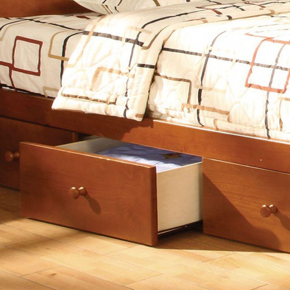 Reaves Transitional Underbed Storage Drawer Color: Oak