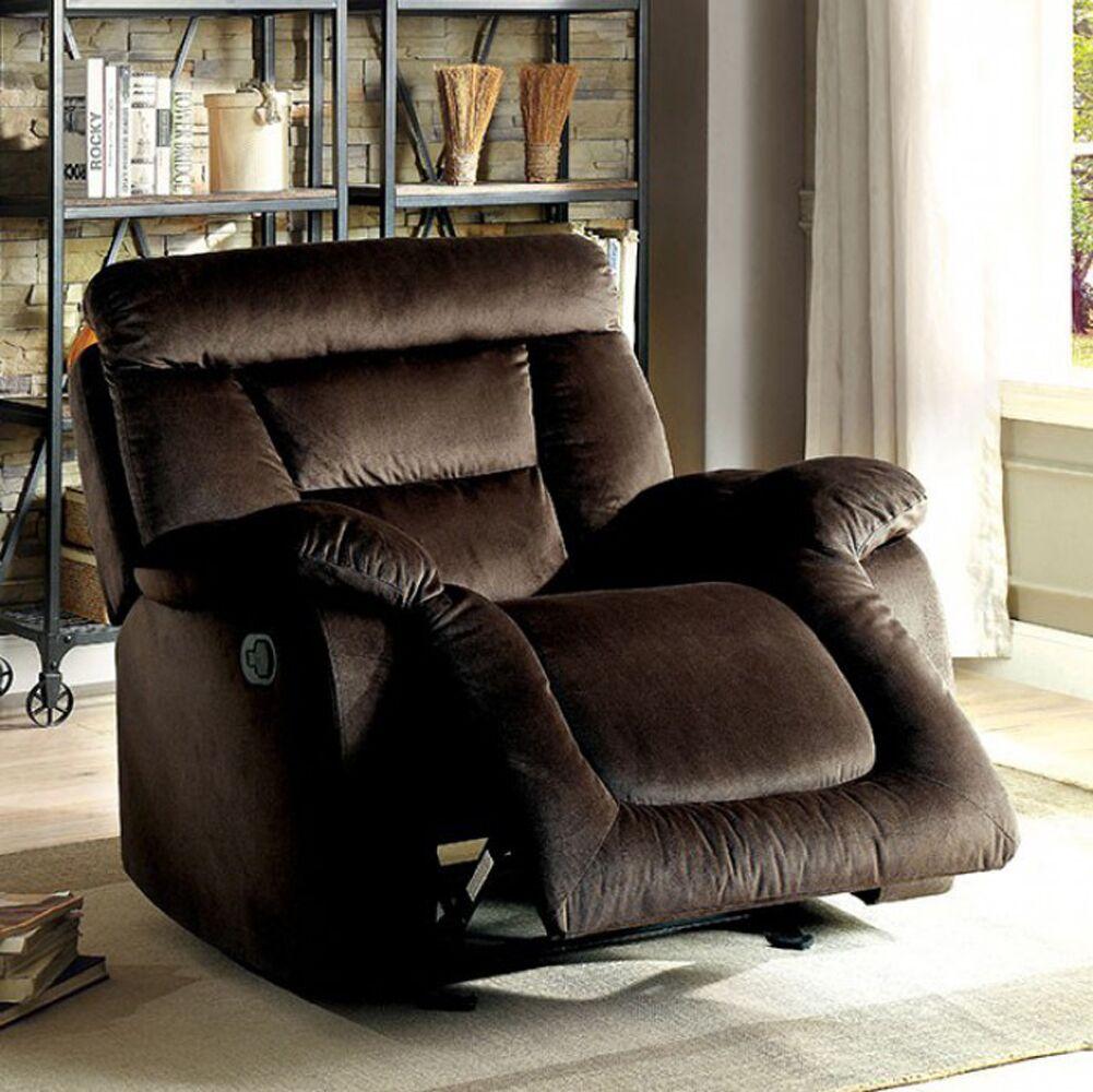 Mayme Manual Rocker Recliner Upholstery: Brown