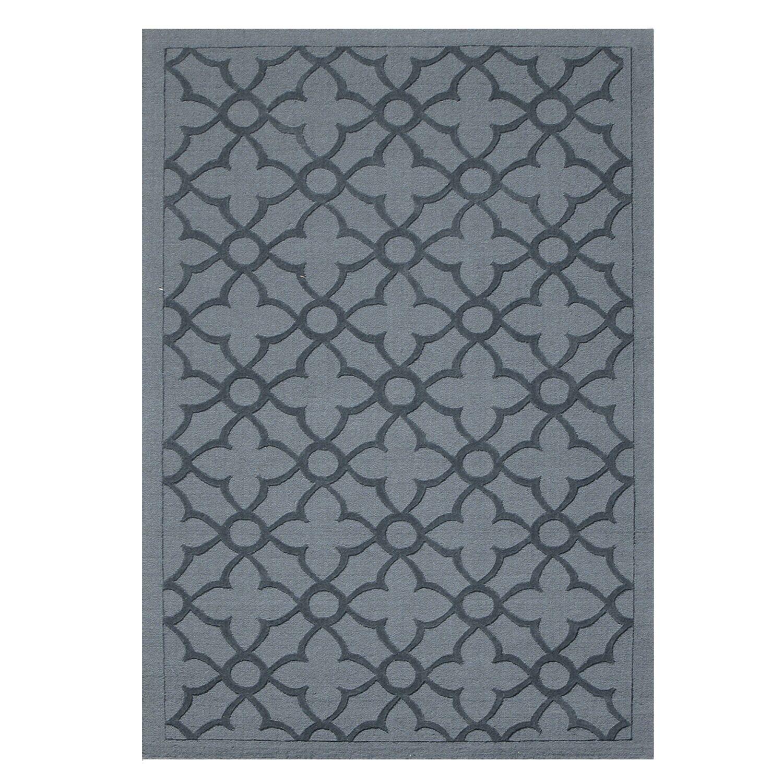 Flamenco Hana Hand-Loomed Dark Gray Area Rug Rug Size: Rectangle 5' x 8'