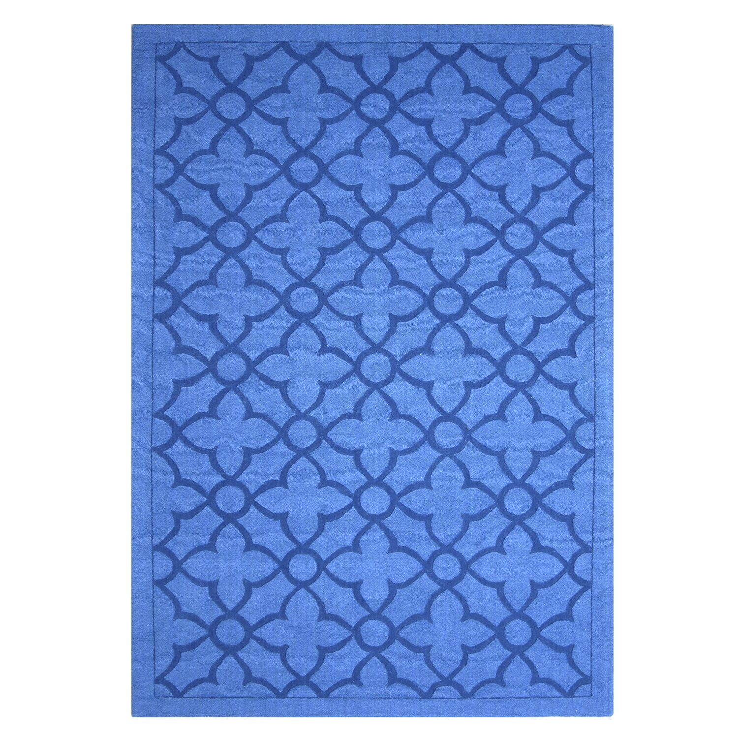 Flamenco Hana Hand-Loomed Royal Blue Area Rug Rug Size: Rectangle 8' x 10'