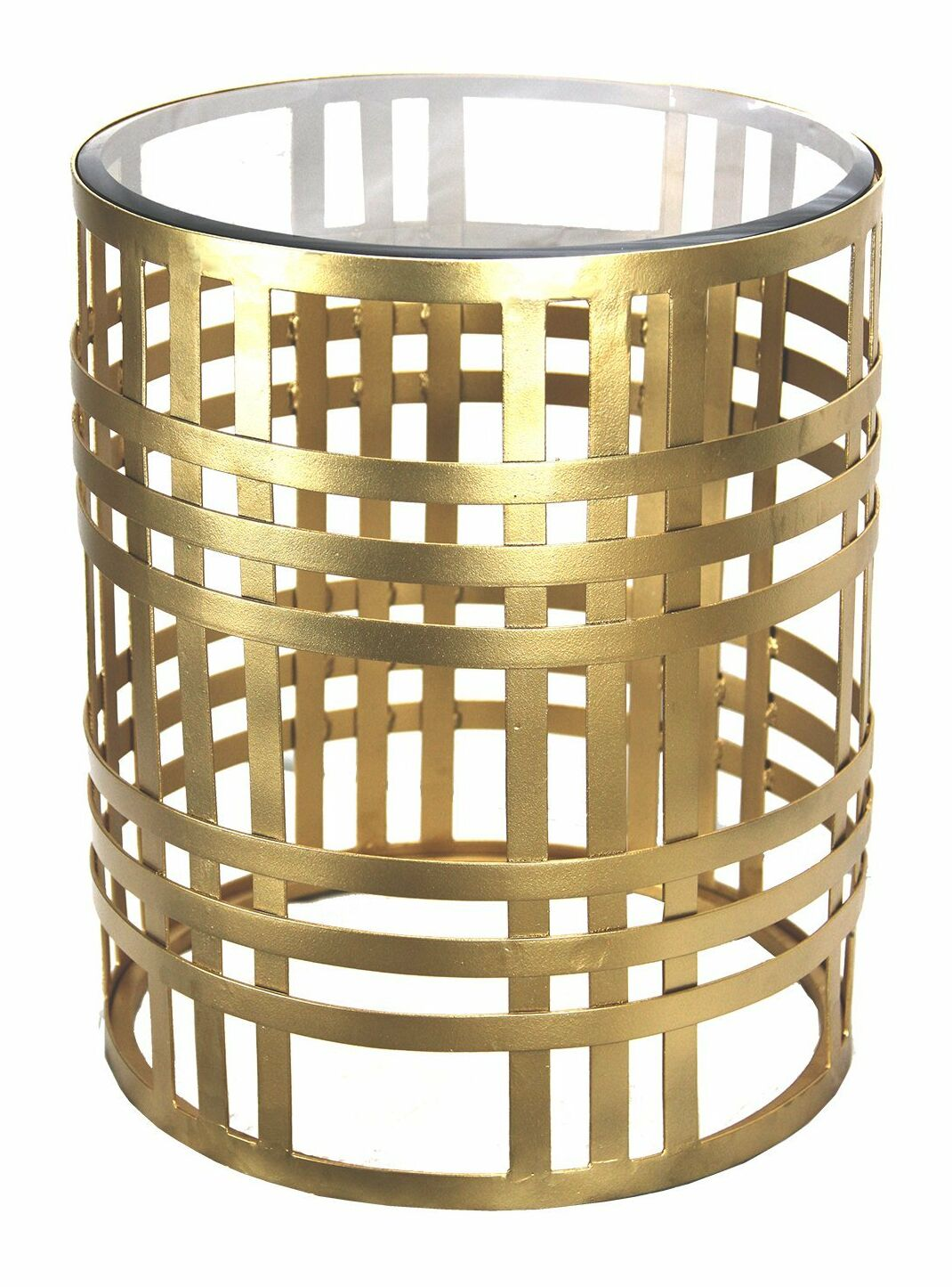 Gilded Cage End Table