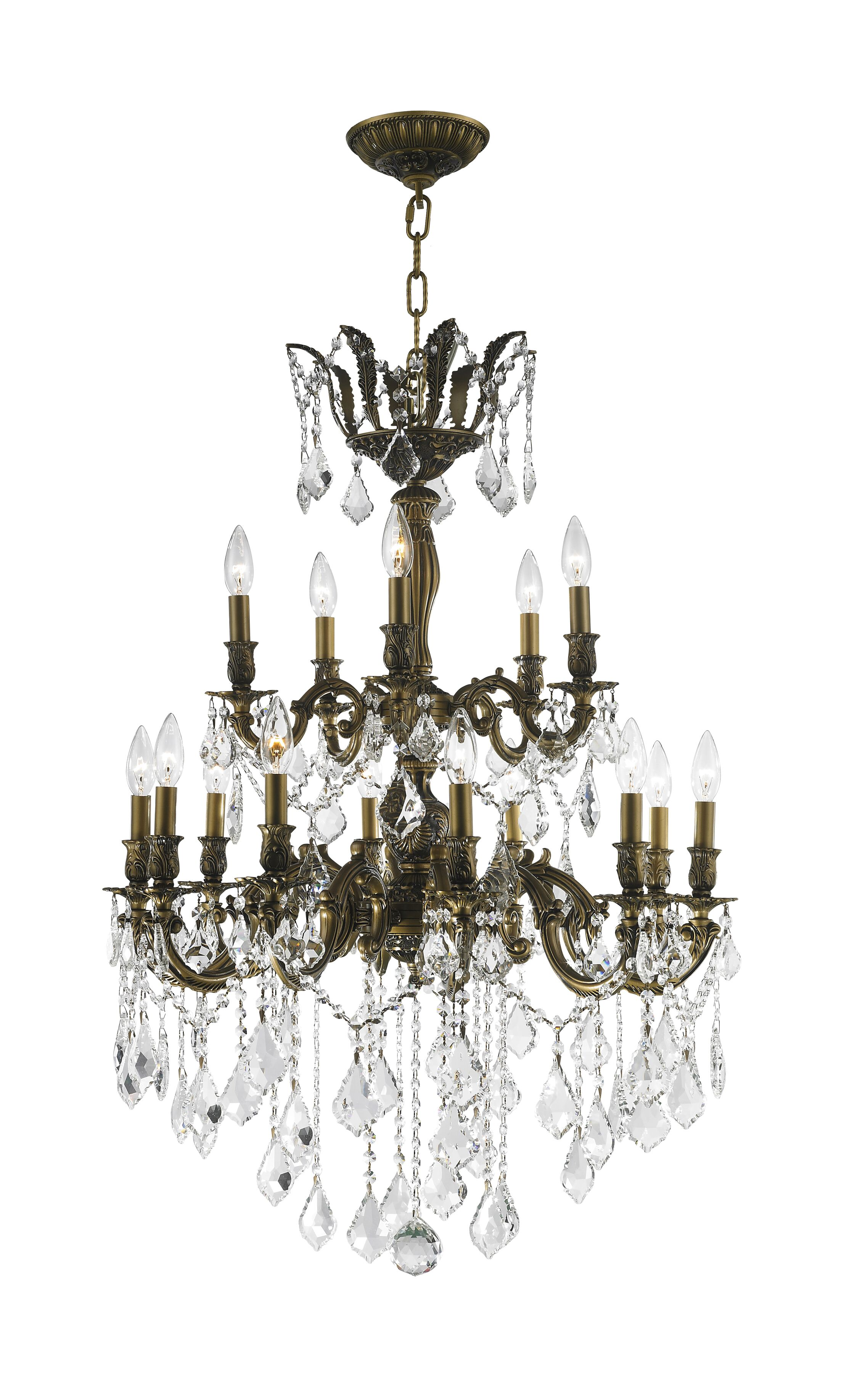 Weisser 15-Light Metal Candle Style Chandelier
