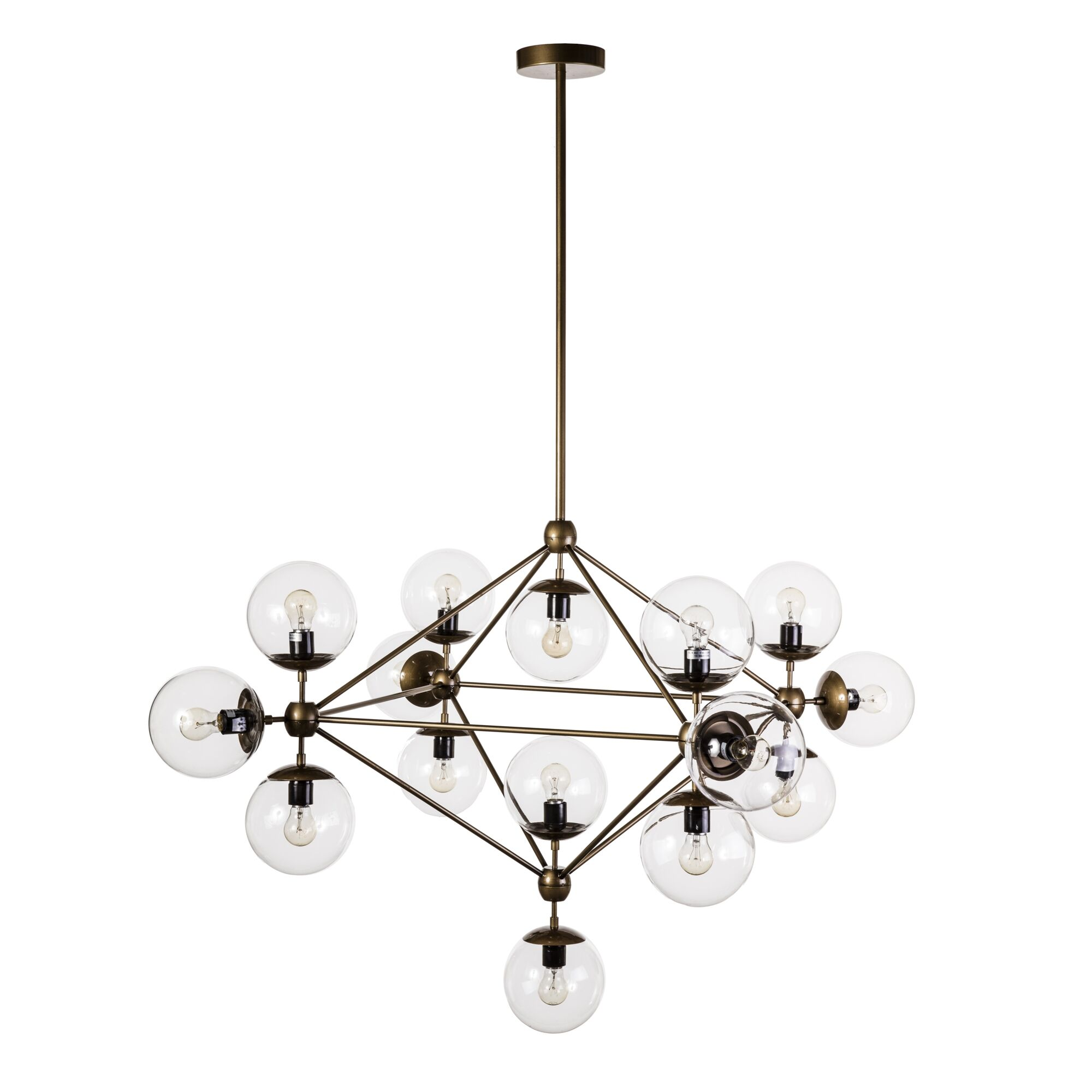 Hodge 15-Light Sputnik Chandelier Finish: Brass