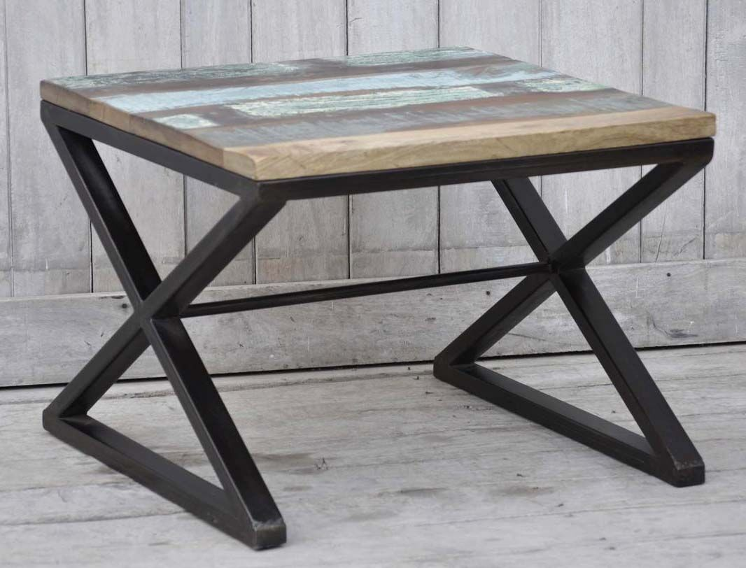 Recycled Wood End Table Table Size: 23.6