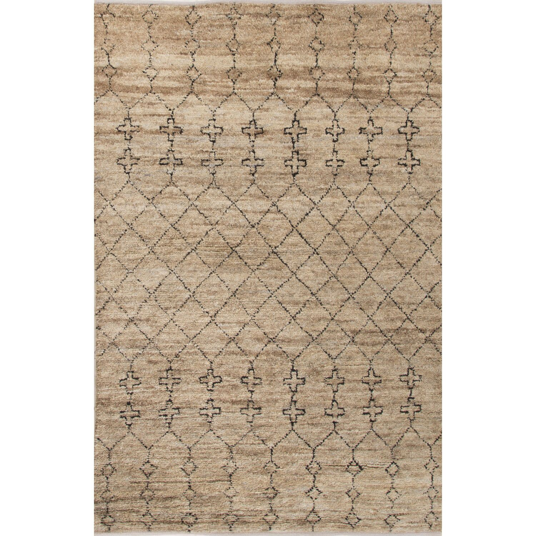 Luxor Natural/Black Area Rug Rug Size: Rectangle 8' x 10'