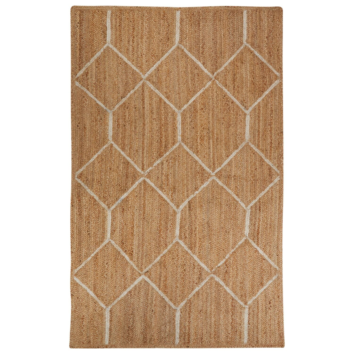 Subra Natural/Ivory Area Rug Rug Size: Rectangle 5' x 8'