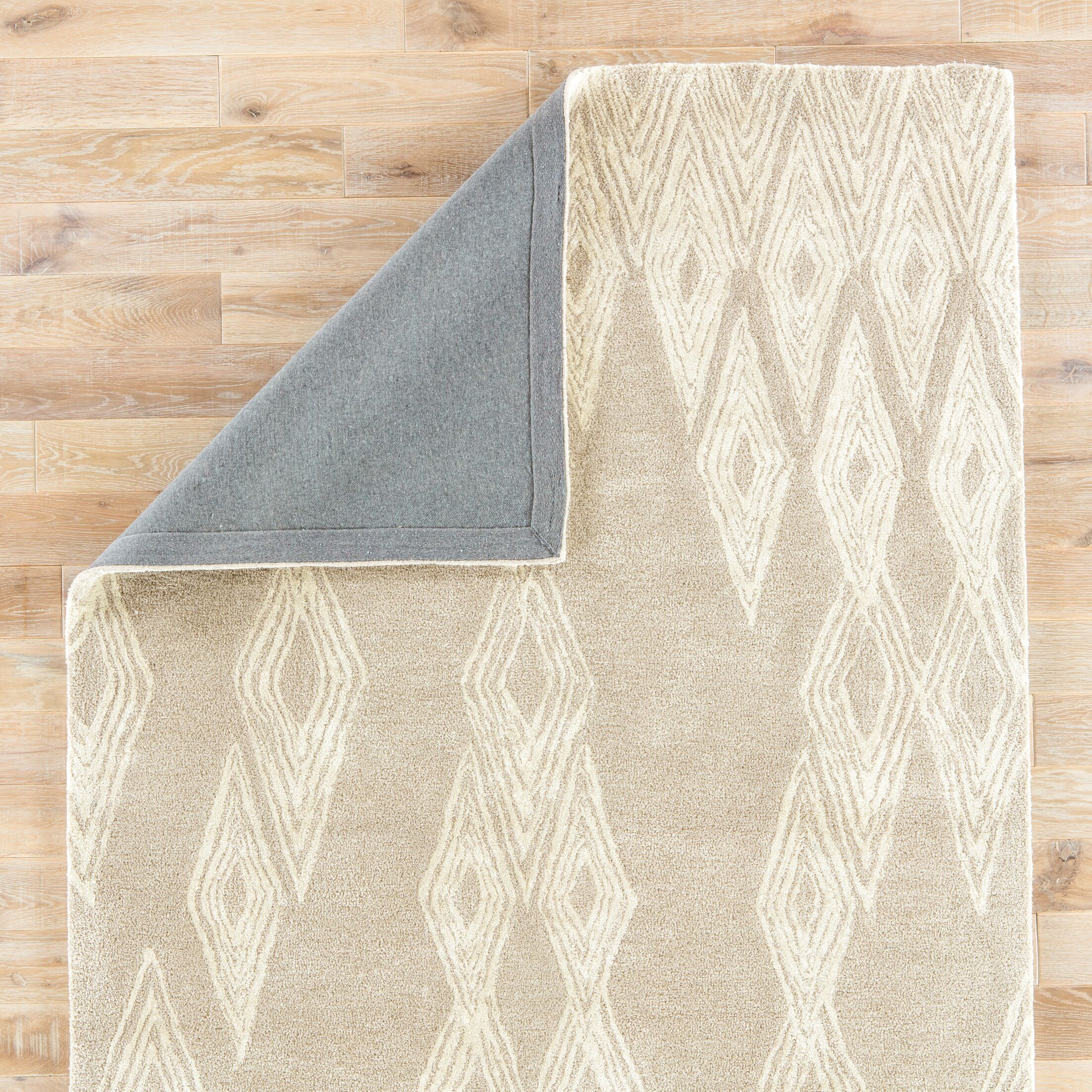 Bourassa Geometric Handmade Gray Area Rug Rug Size: Rectangle 5' x 8'