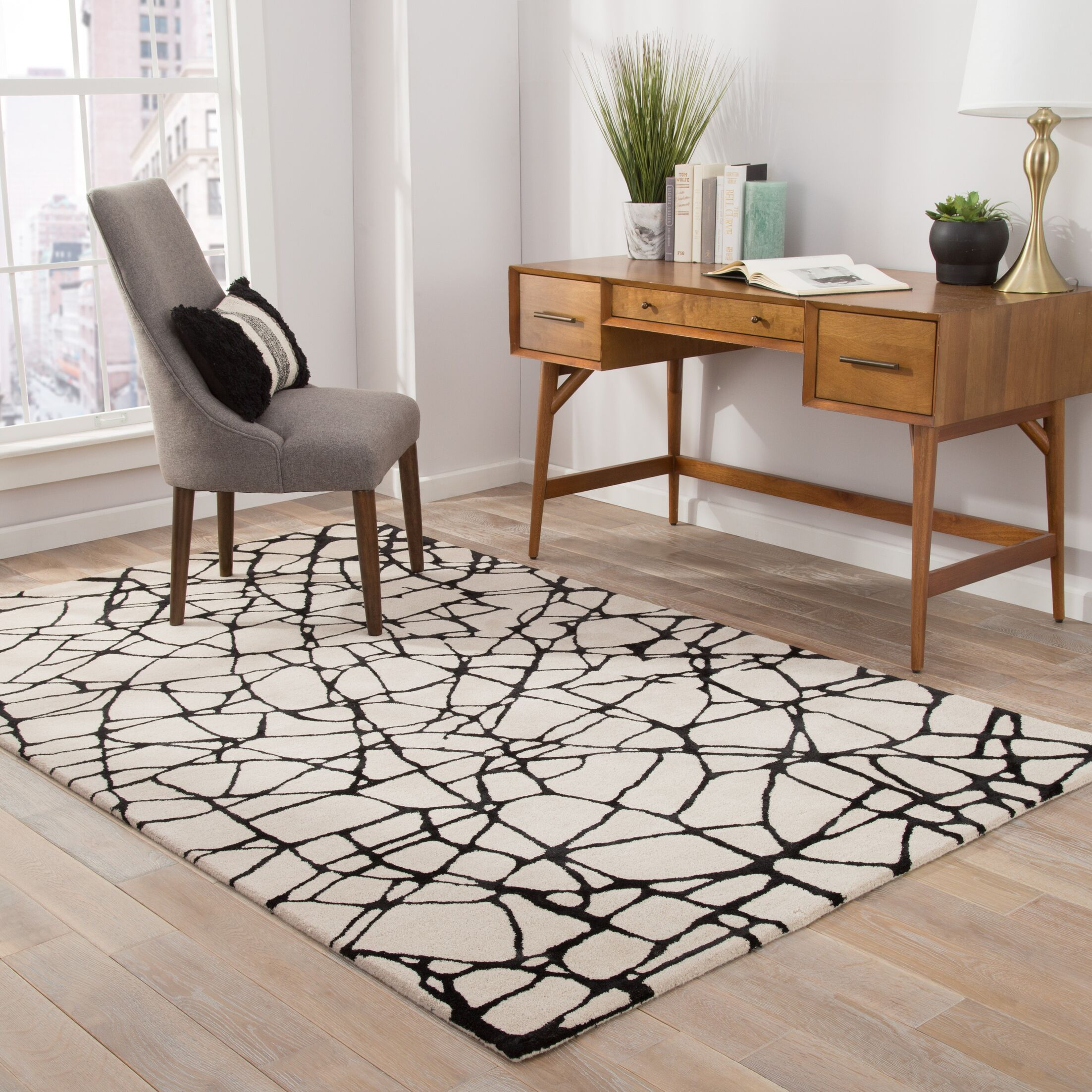 Keswick Hand-Tufted White Area Rug Rug Size: Rectangle 8' x 10'