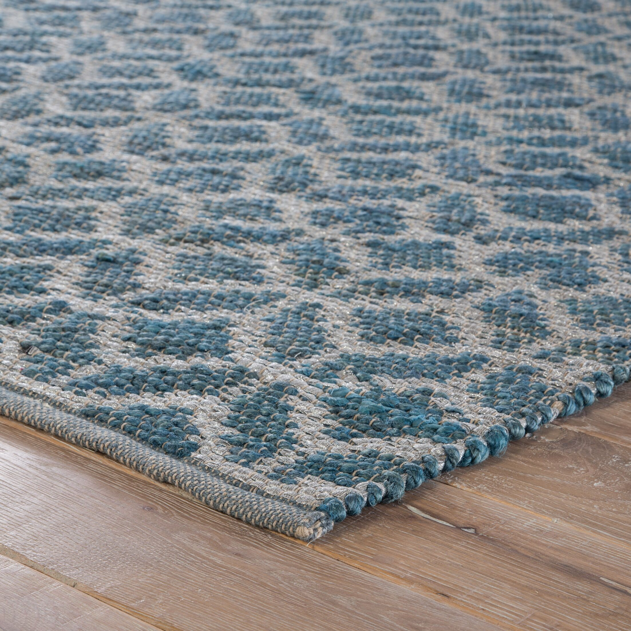 Tadashi Geometric Handmade Blue Area Rug Rug Size: Rectangle 2' x 3'