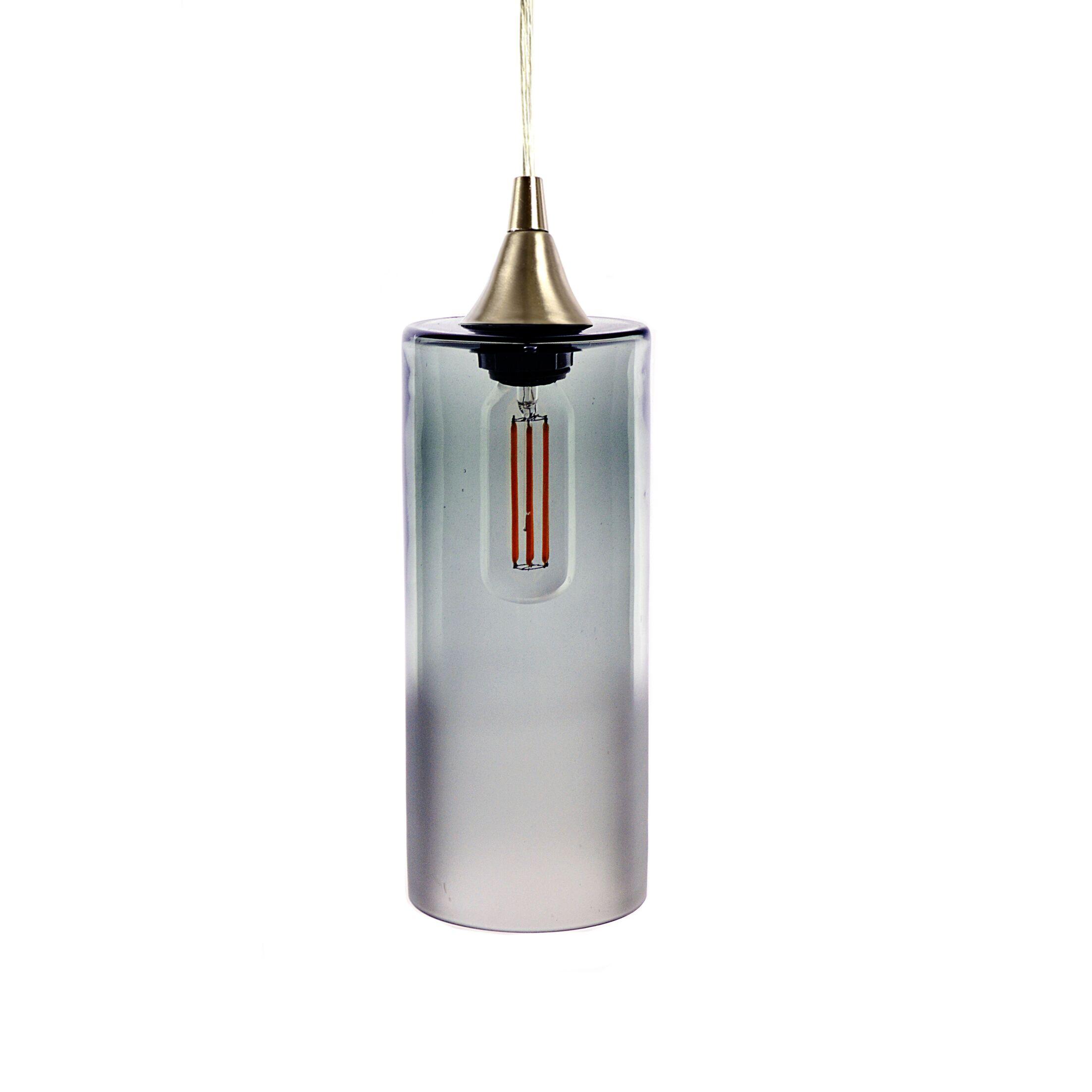 1-Light Cylinder Pendant Finish: Gray