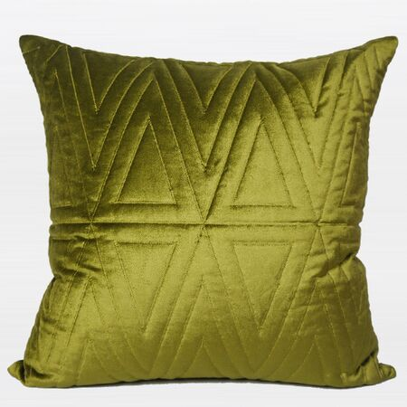 Luxury Quilting Throw Pillow Color: Wasabi Green